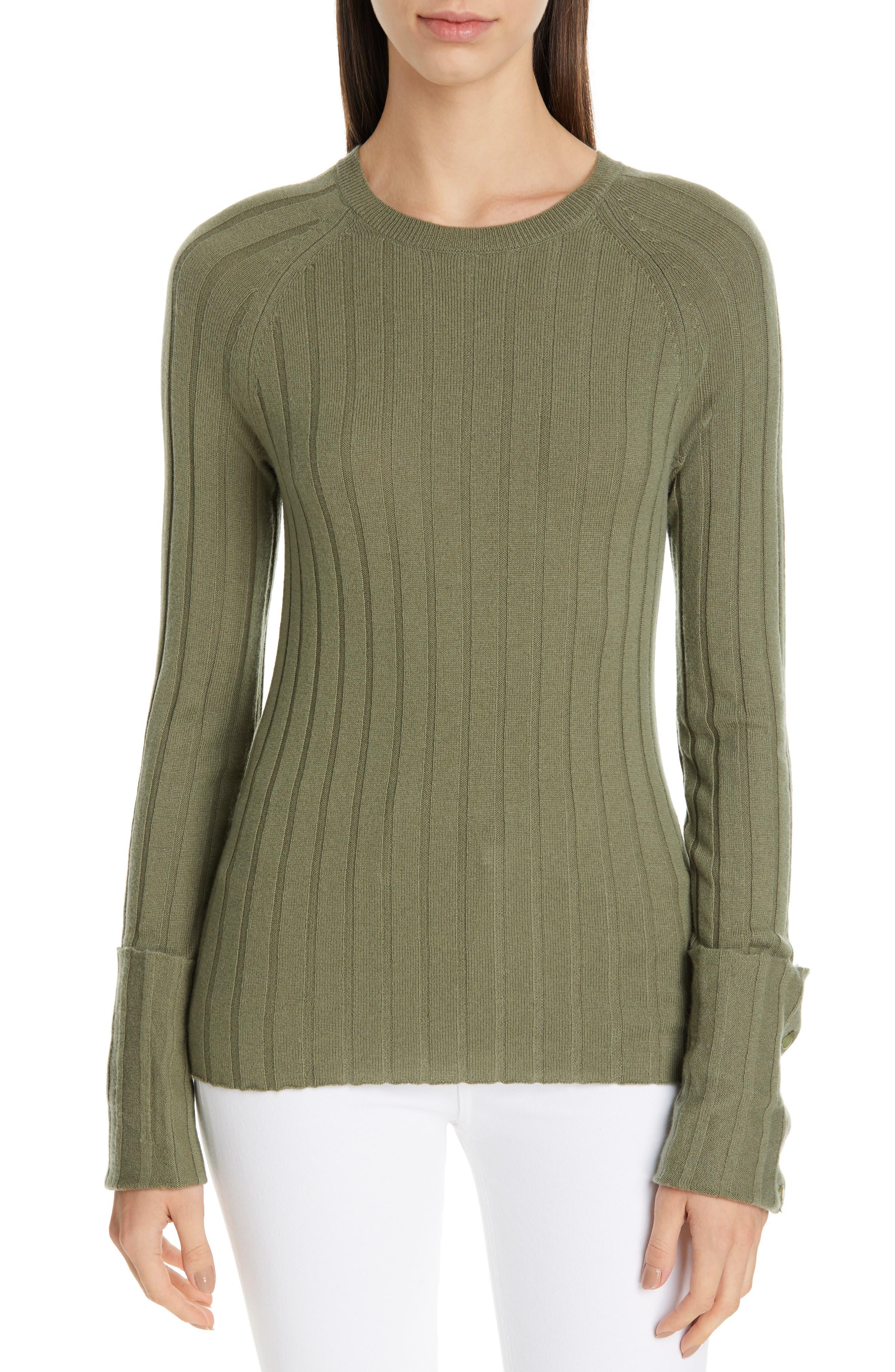 Equipment Joella Wool & Cashmere Sweater, Green
