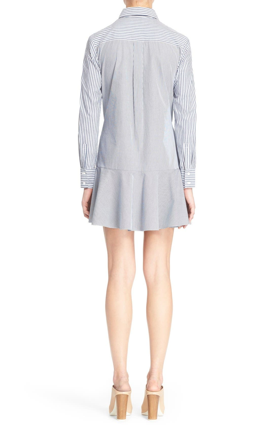 DEREK LAM 10 CROSBY, Tie Waist Shirtdress, Alternate thumbnail 4, color, 419