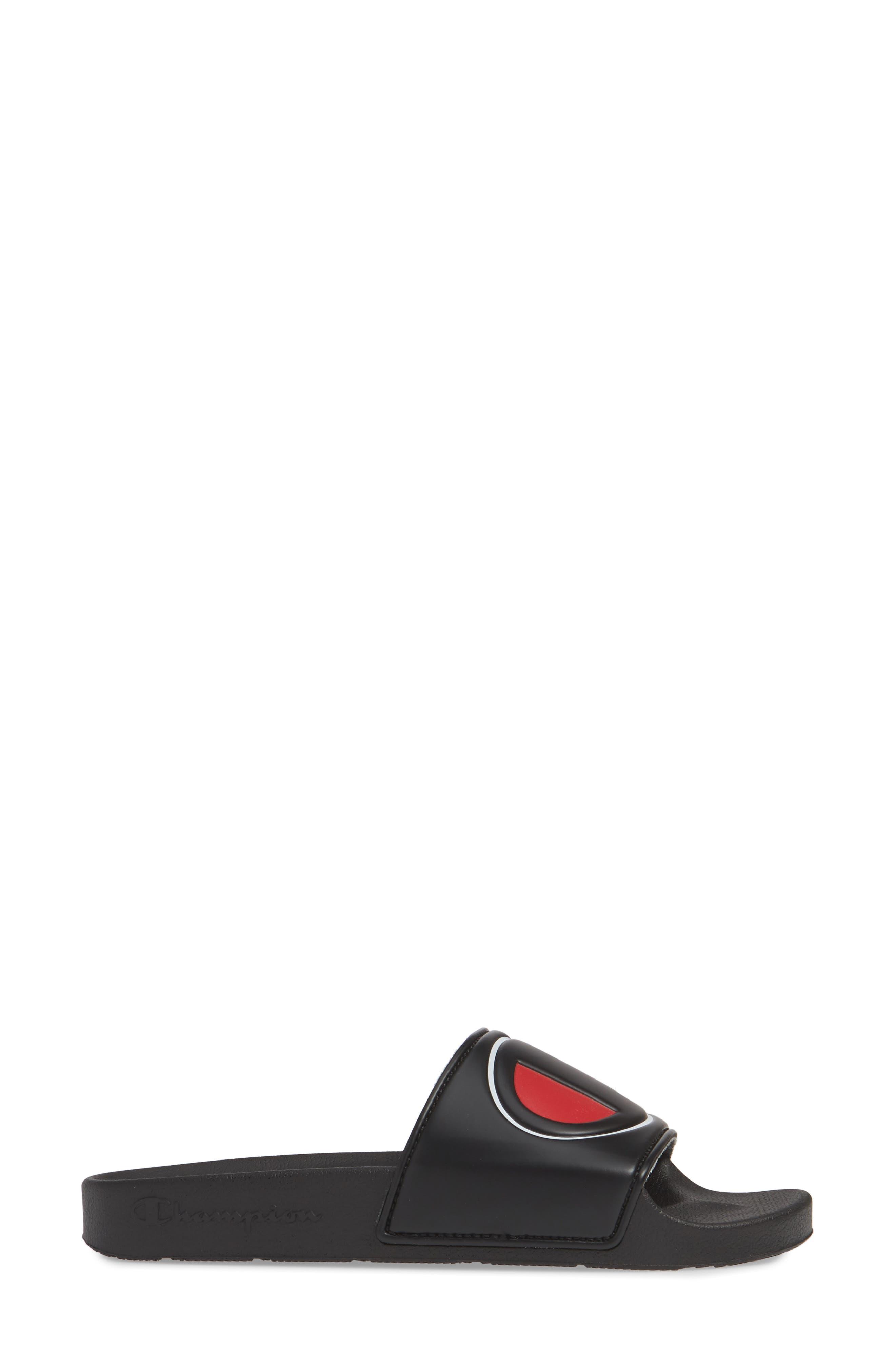 CHAMPION, Slide Sandal, Alternate thumbnail 3, color, BLACK