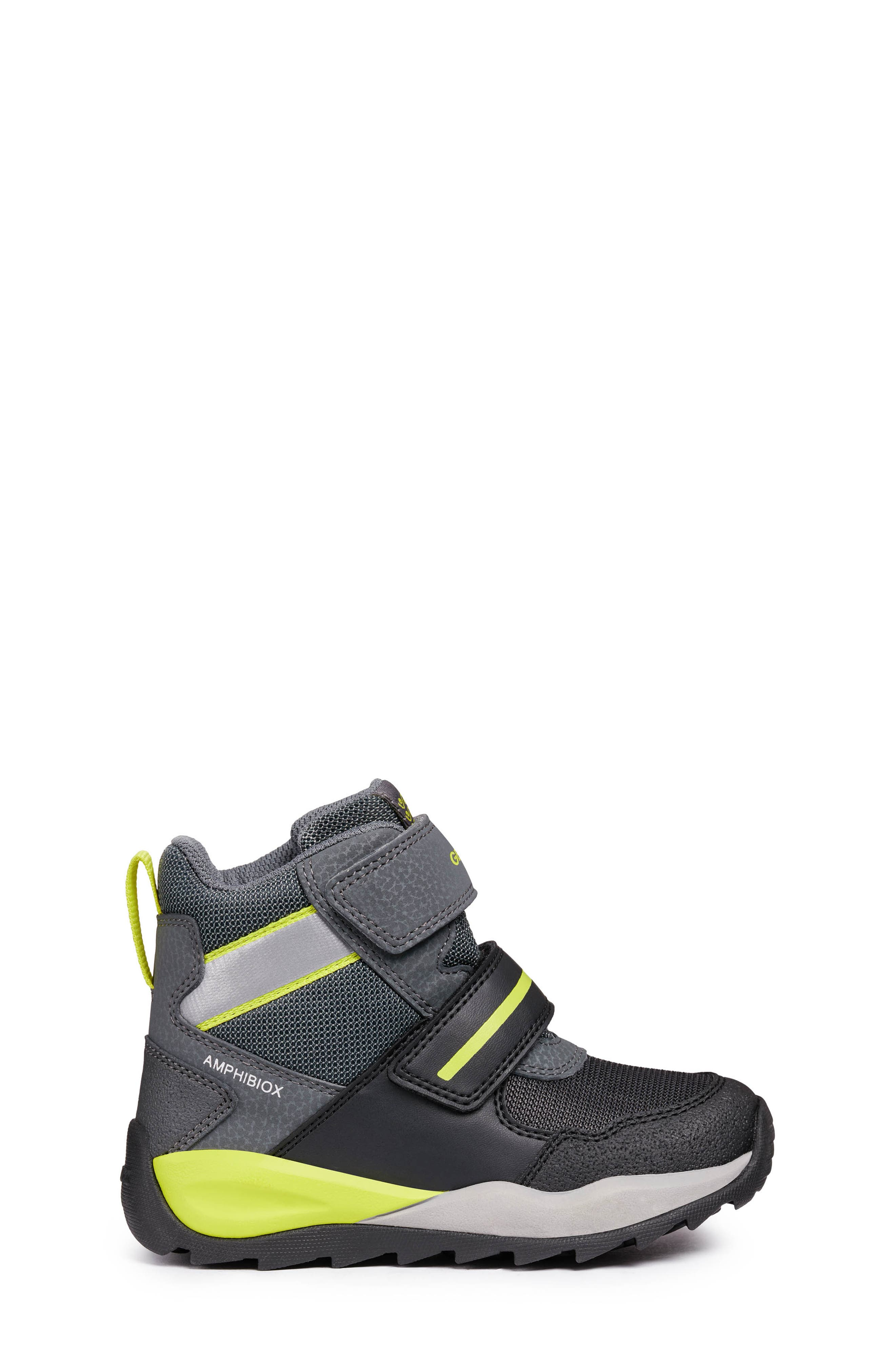 GEOX, Orizont ABX Waterproof Boot, Alternate thumbnail 3, color, BLACK/ LIME
