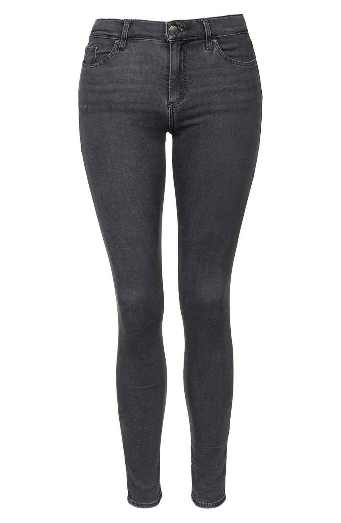 TOPSHOP, Moto 'Jamie' Skinny Jeans, Alternate thumbnail 2, color, 020