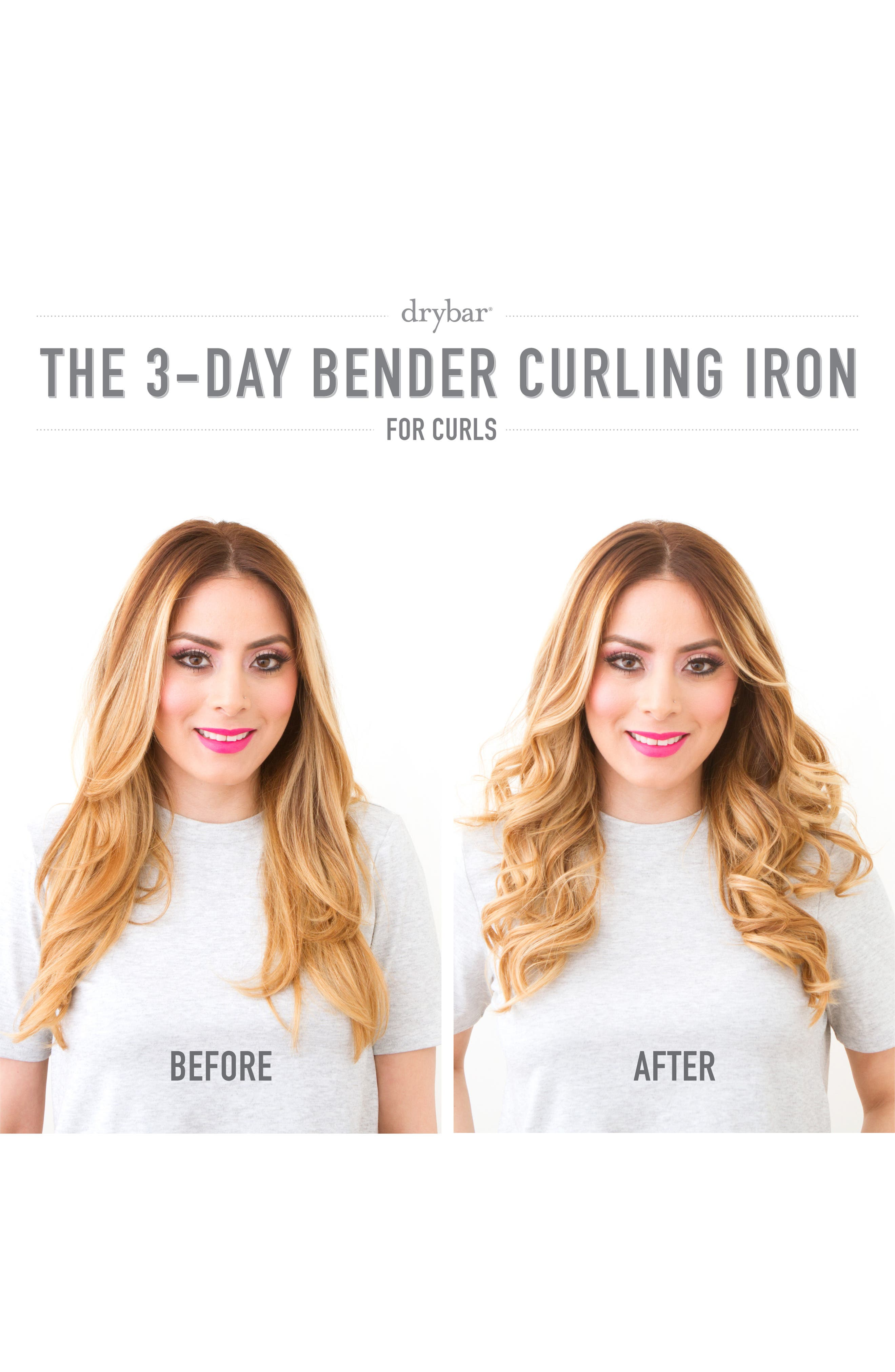 DRYBAR, 3-Day Bender 1.25 Inch Rotating Curling Iron, Alternate thumbnail 3, color, NO COLOR