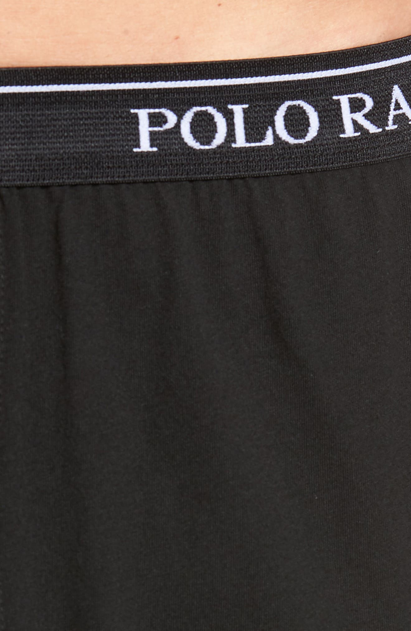 LAUREN RALPH LAUREN, Polo Ralph Lauren 3-Pack Cotton Boxers, Alternate thumbnail 6, color, POLO BLACK
