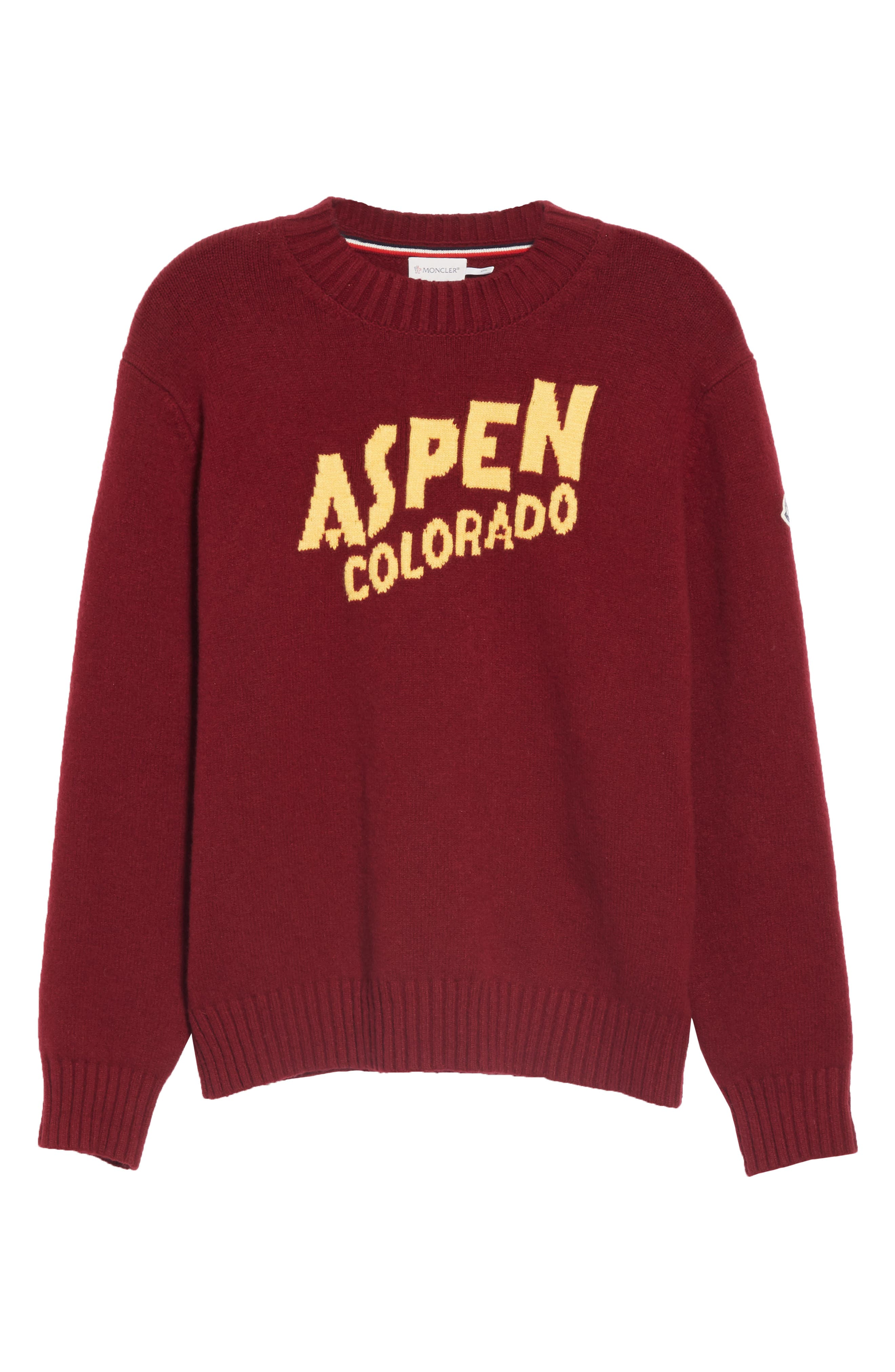MONCLER, Maglione Cashmere Sweater, Alternate thumbnail 6, color, 601