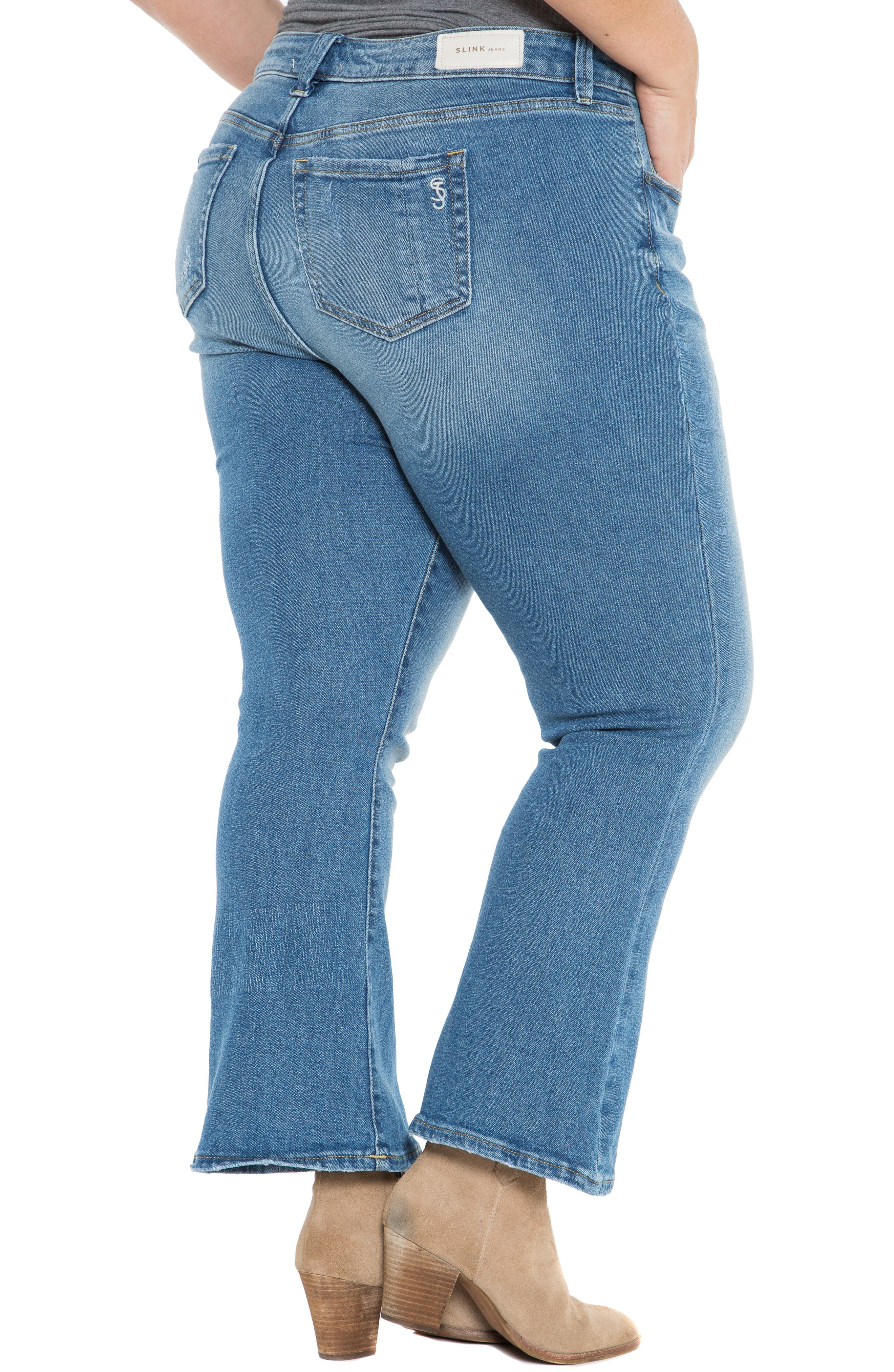 SLINK JEANS, Crop Flare Jeans, Alternate thumbnail 2, color, PATTI