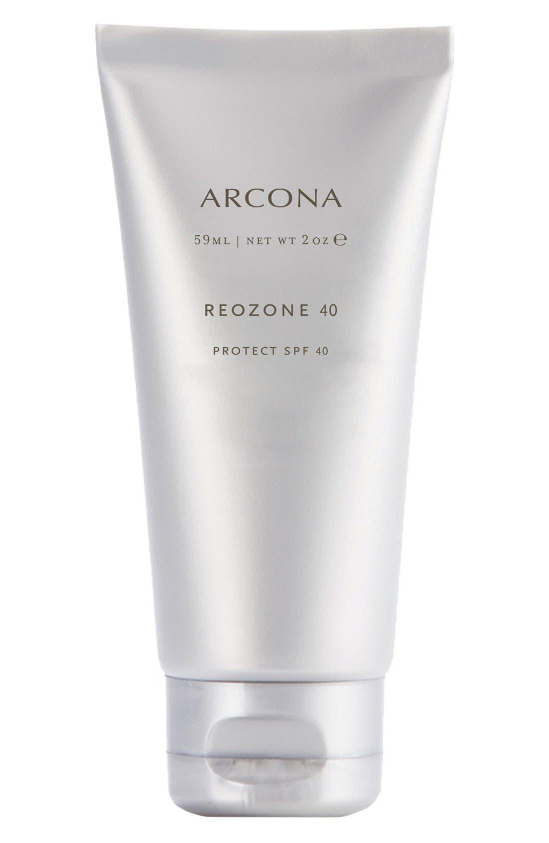 ARCONA Reozone 40 Sunscreen SPF 40, Main, color, NO COLOR