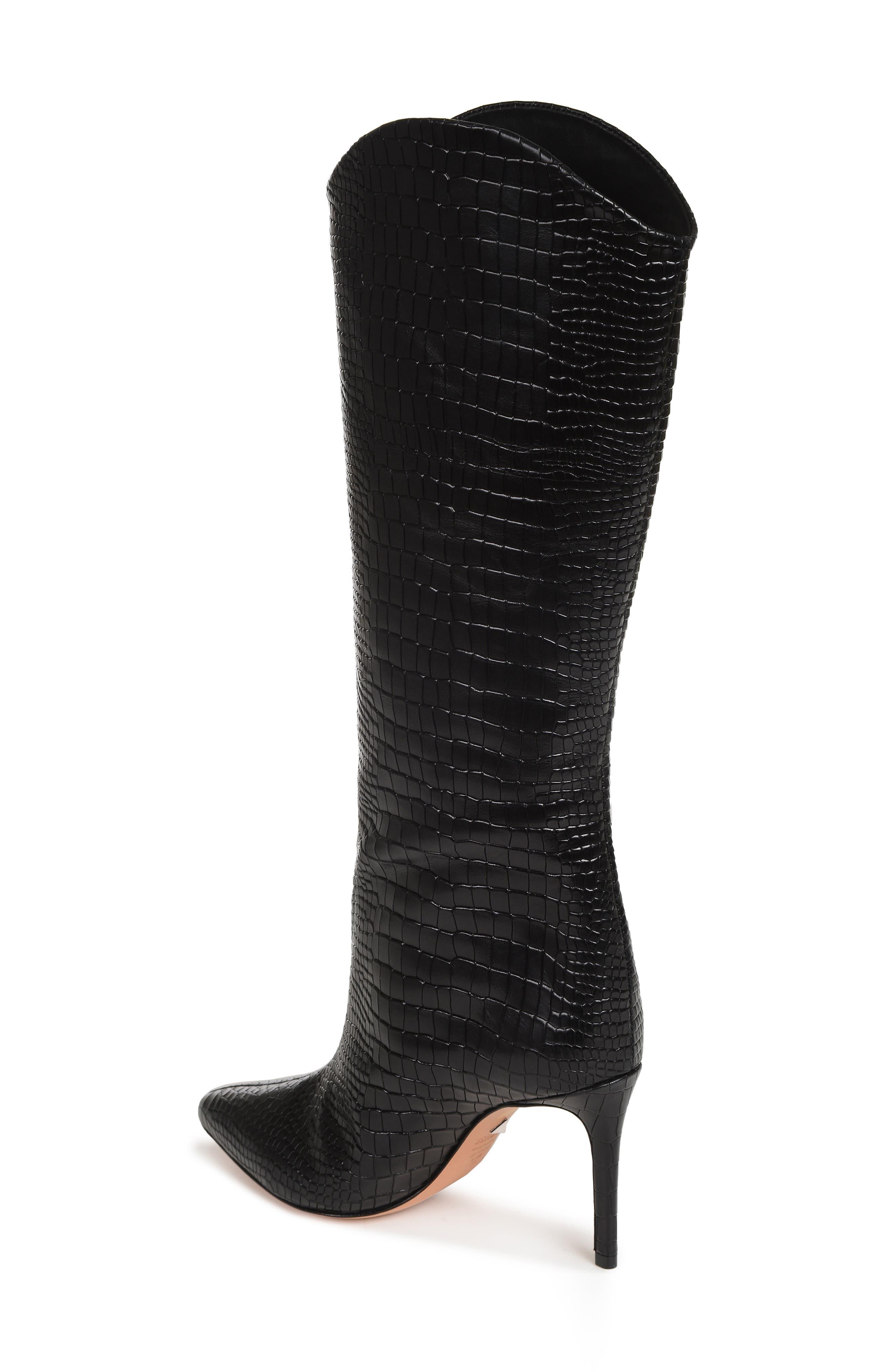SCHUTZ, Maryana Pointy Toe Boot, Alternate thumbnail 2, color, BLACK LEATHER