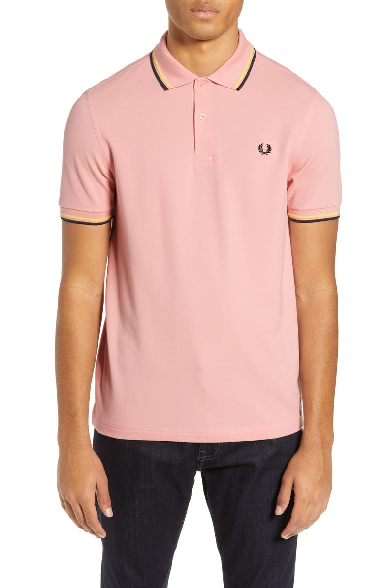 Fred Perry Tops TWIN TIPPED EXTRA SLIM FIT PIQUE POLO