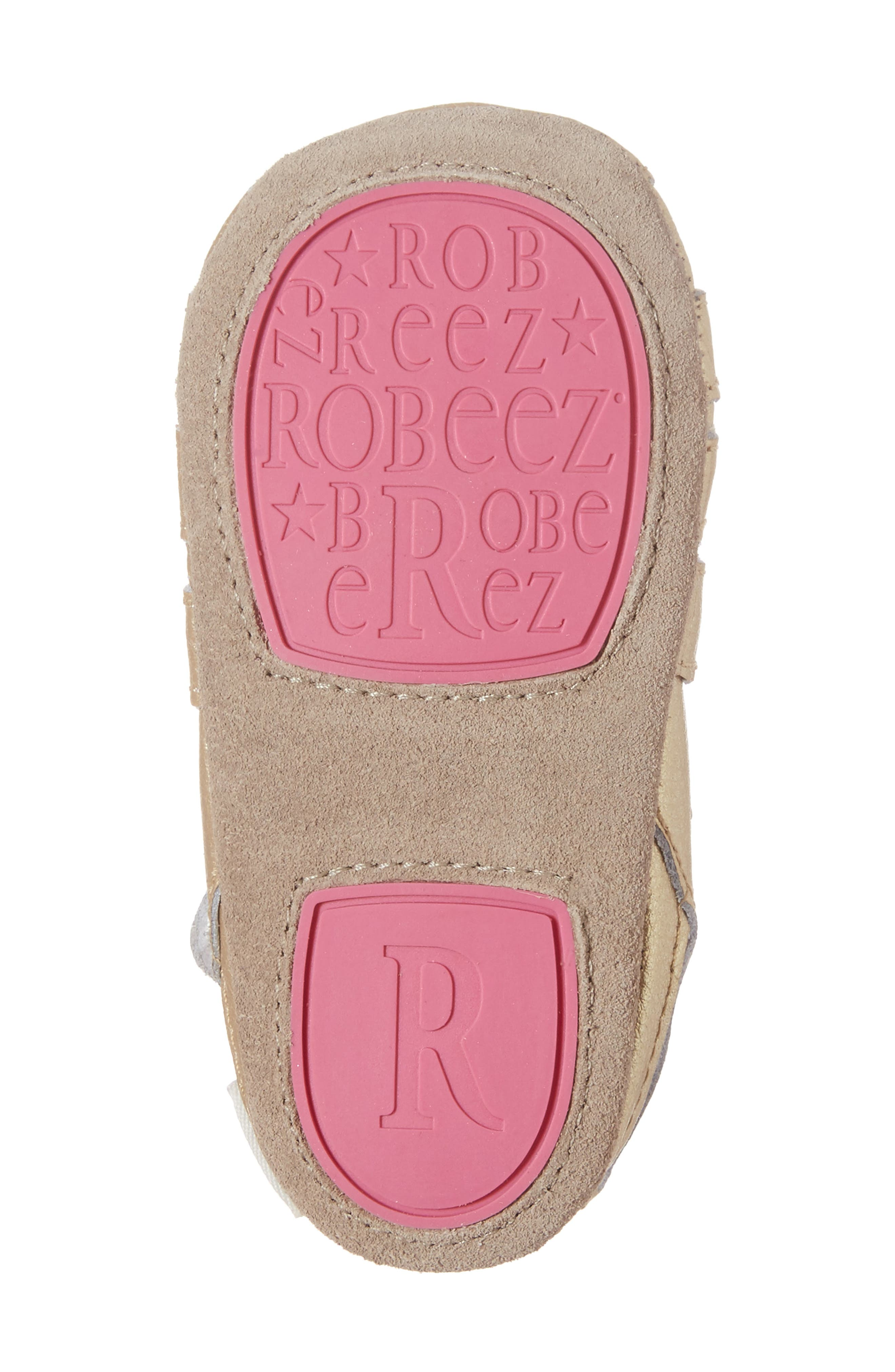 ROBEEZ<SUP>®</SUP>, Paris Crib Shoe, Alternate thumbnail 6, color, GOLD