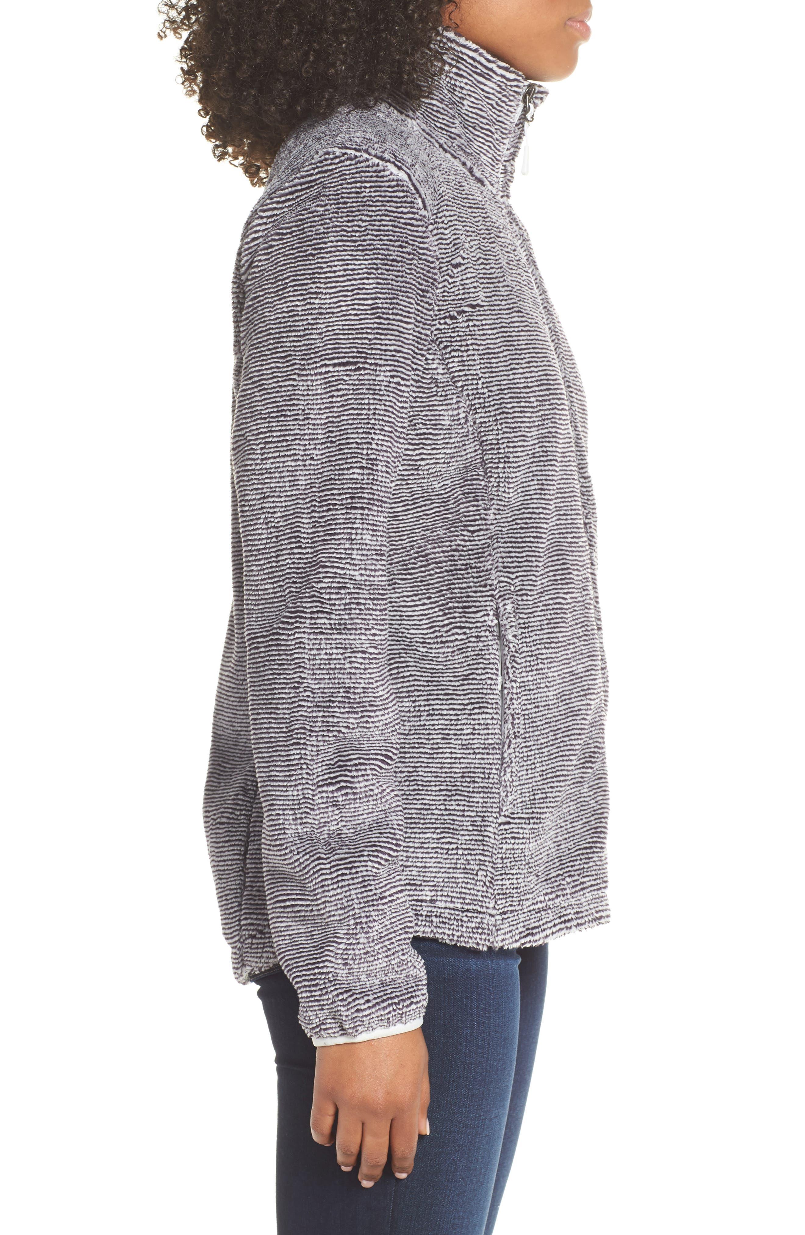 THE NORTH FACE, Osito 2 Stripe Fleece Jacket, Alternate thumbnail 4, color, BLACK/ TIN GREY STRIPE