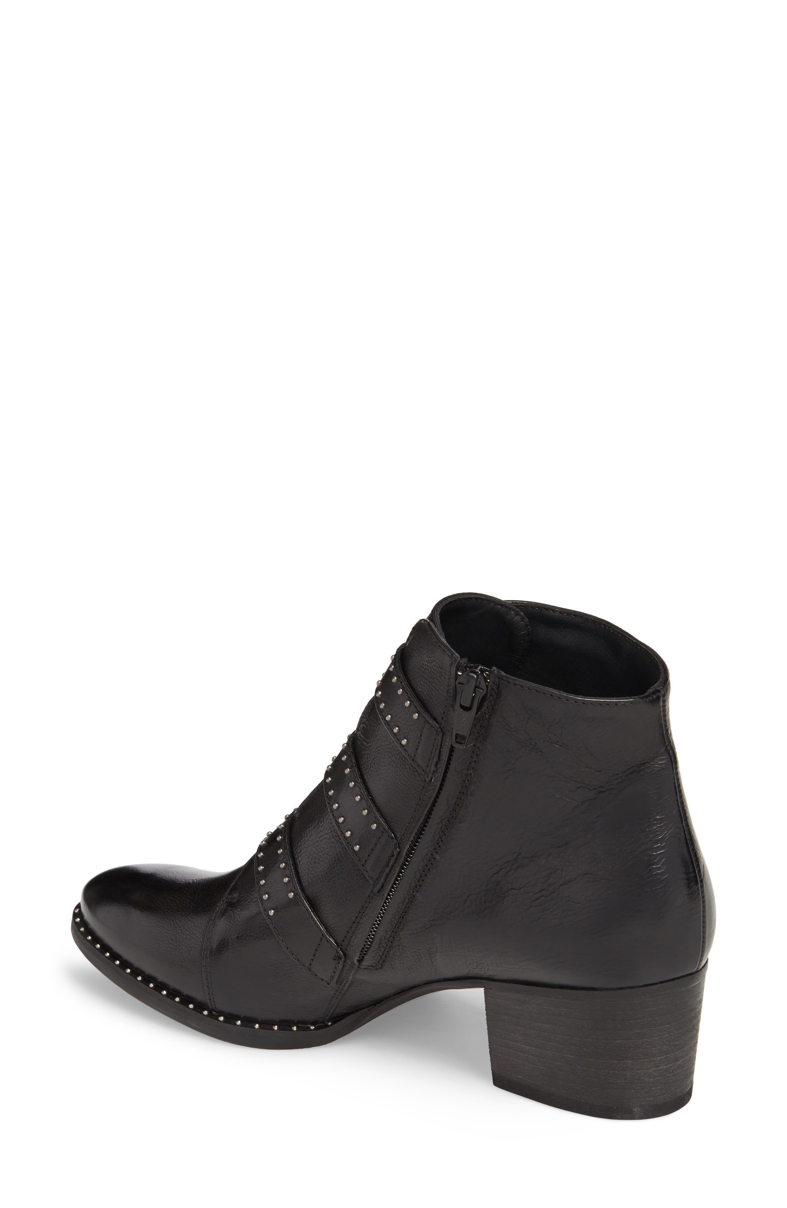 PAUL GREEN, Soho Bootie, Alternate thumbnail 2, color, BLACK LEATHER