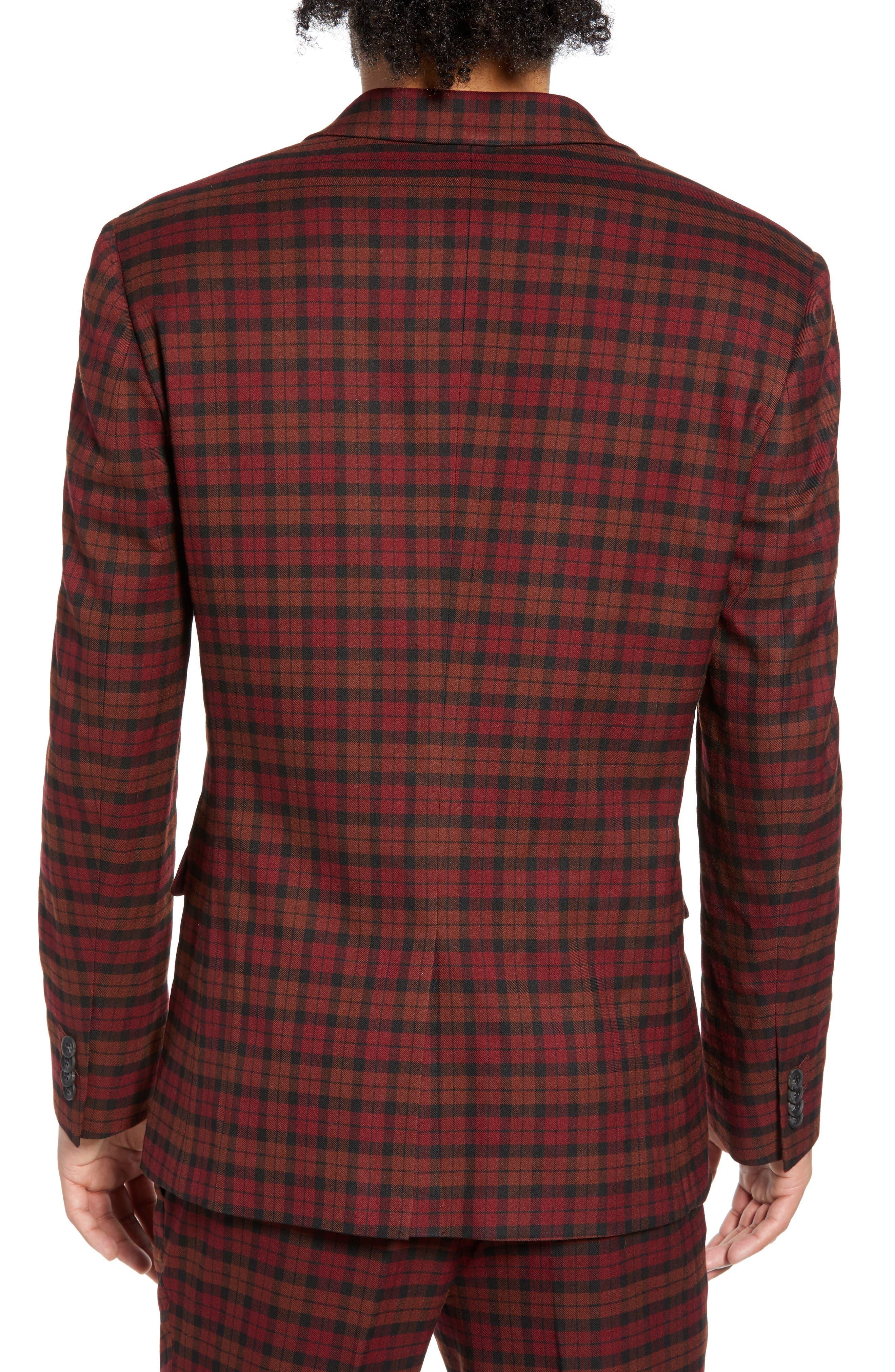 TOPMAN, Thorn Slim Fit Suit Jacket, Alternate thumbnail 2, color, 600