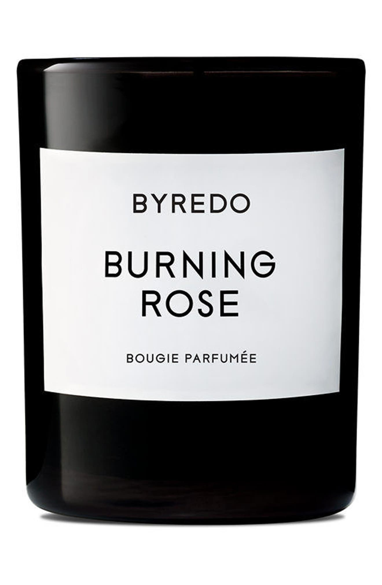 BYREDO, Burning Rose Candle, Alternate thumbnail 2, color, NO COLOR