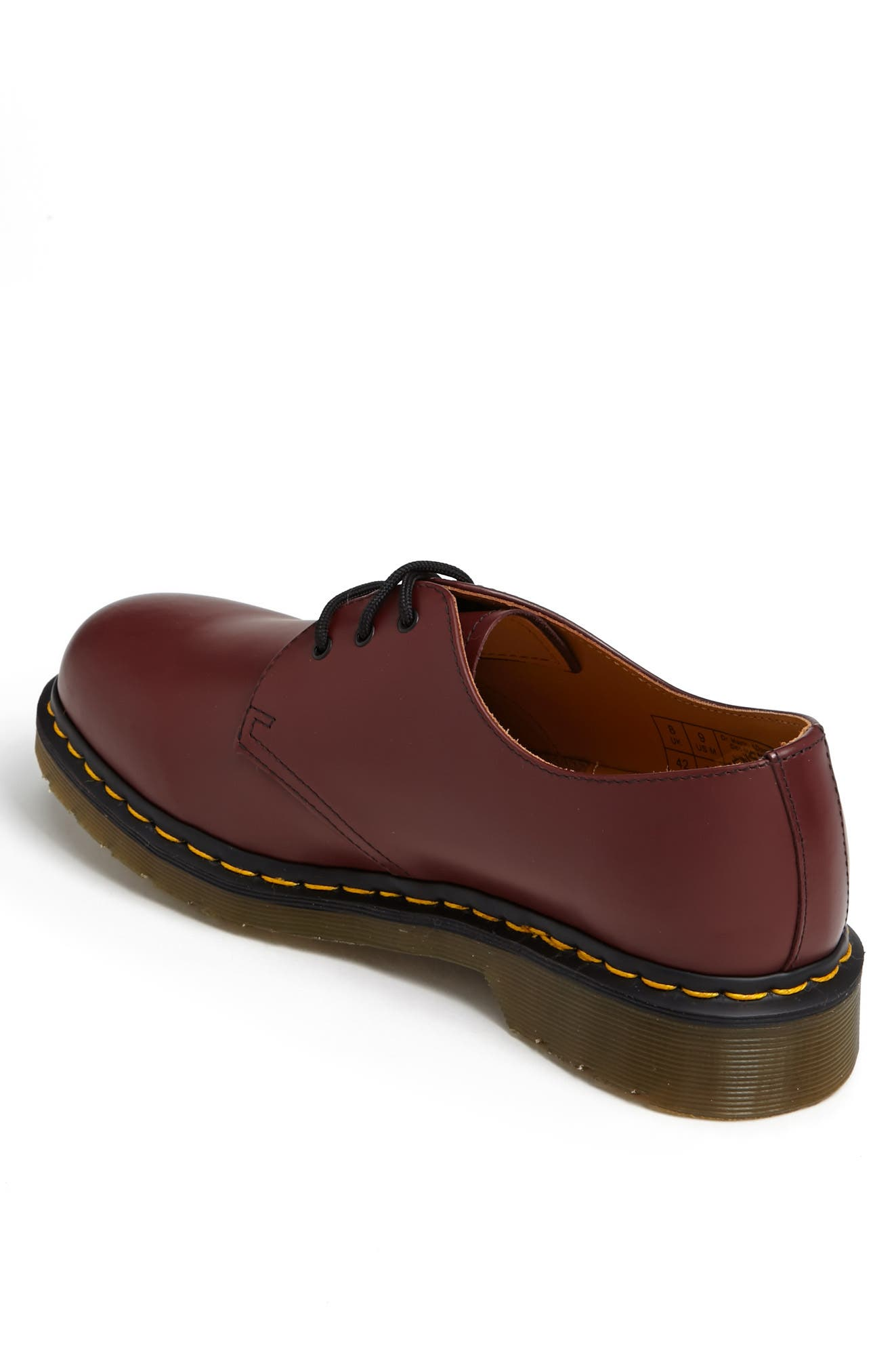 DR. MARTENS, Plain Toe Derby, Alternate thumbnail 2, color, CHERRY SMOOTH