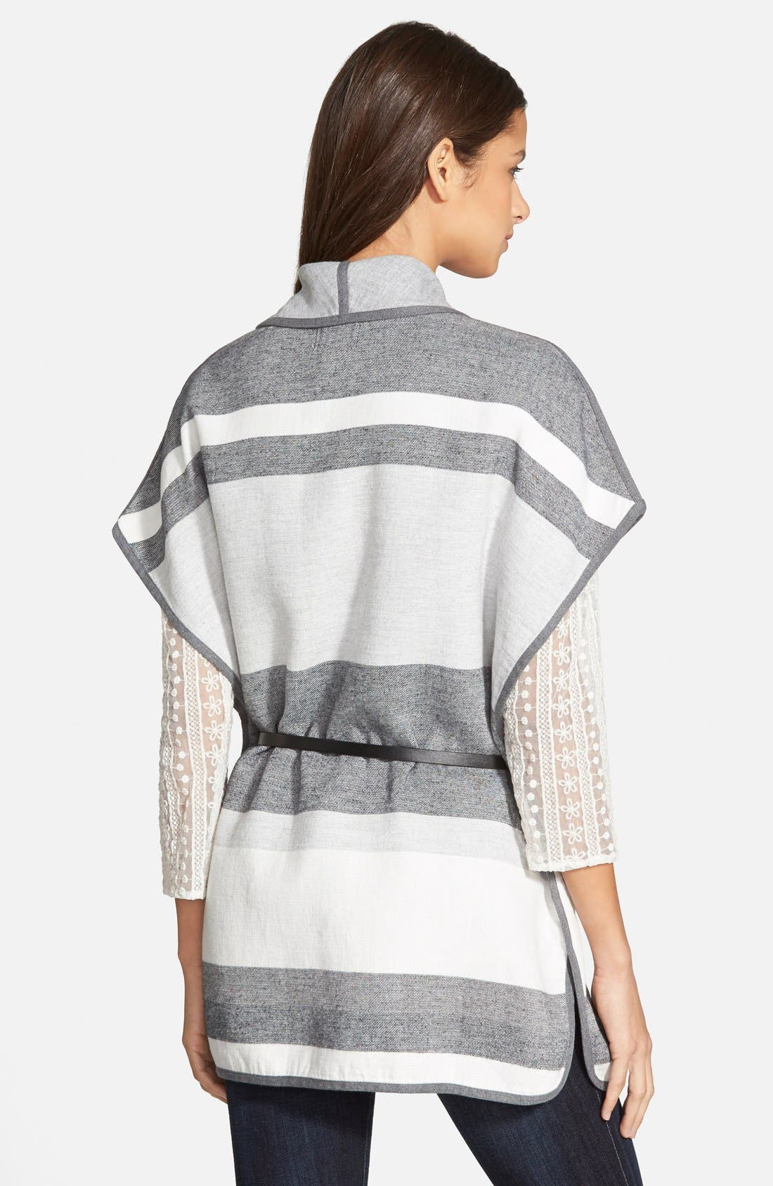 HINGE, Stripe Cape, Alternate thumbnail 2, color, 020