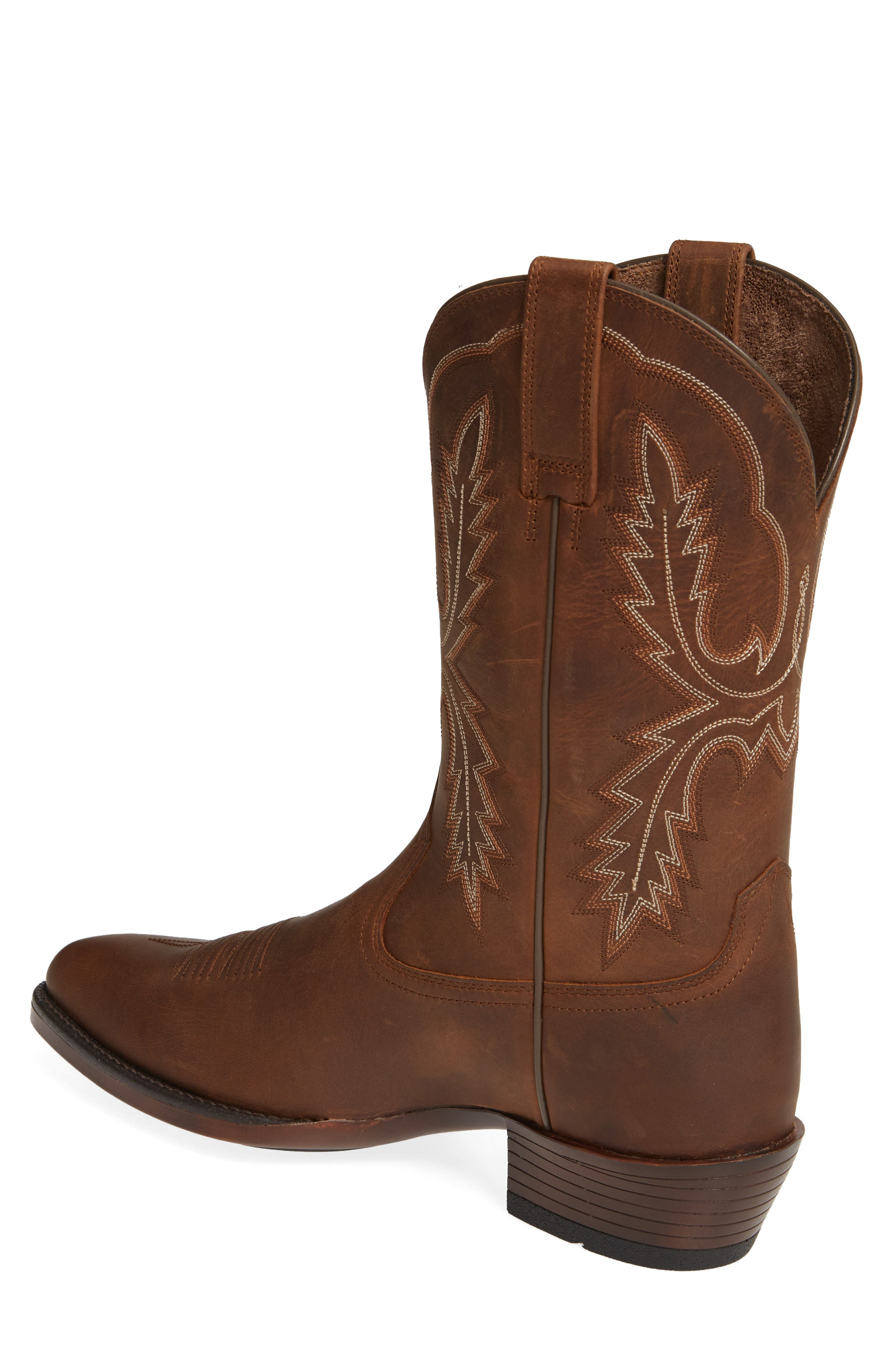 ARIAT, Bar Sour Cowboy Boot, Alternate thumbnail 2, color, DISTRESSED BROWN LEATHER