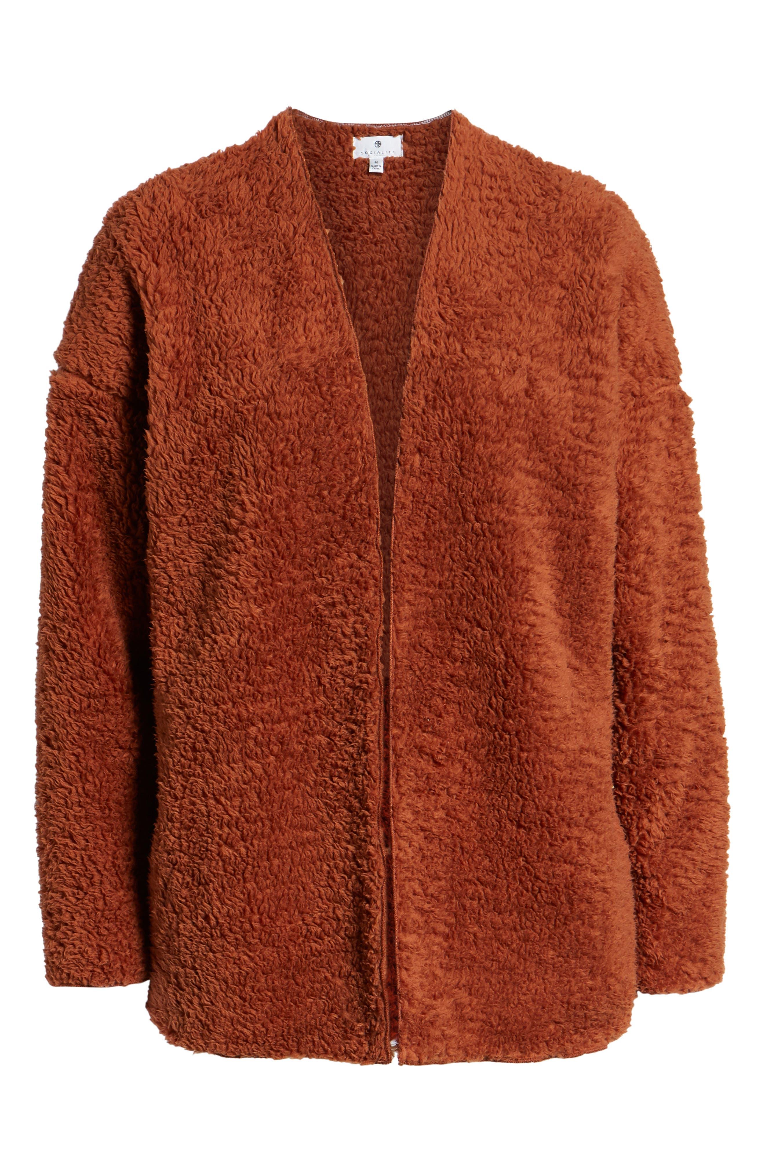 SOCIALITE, Cozy High Pile Fleece Jacket, Alternate thumbnail 6, color, 200