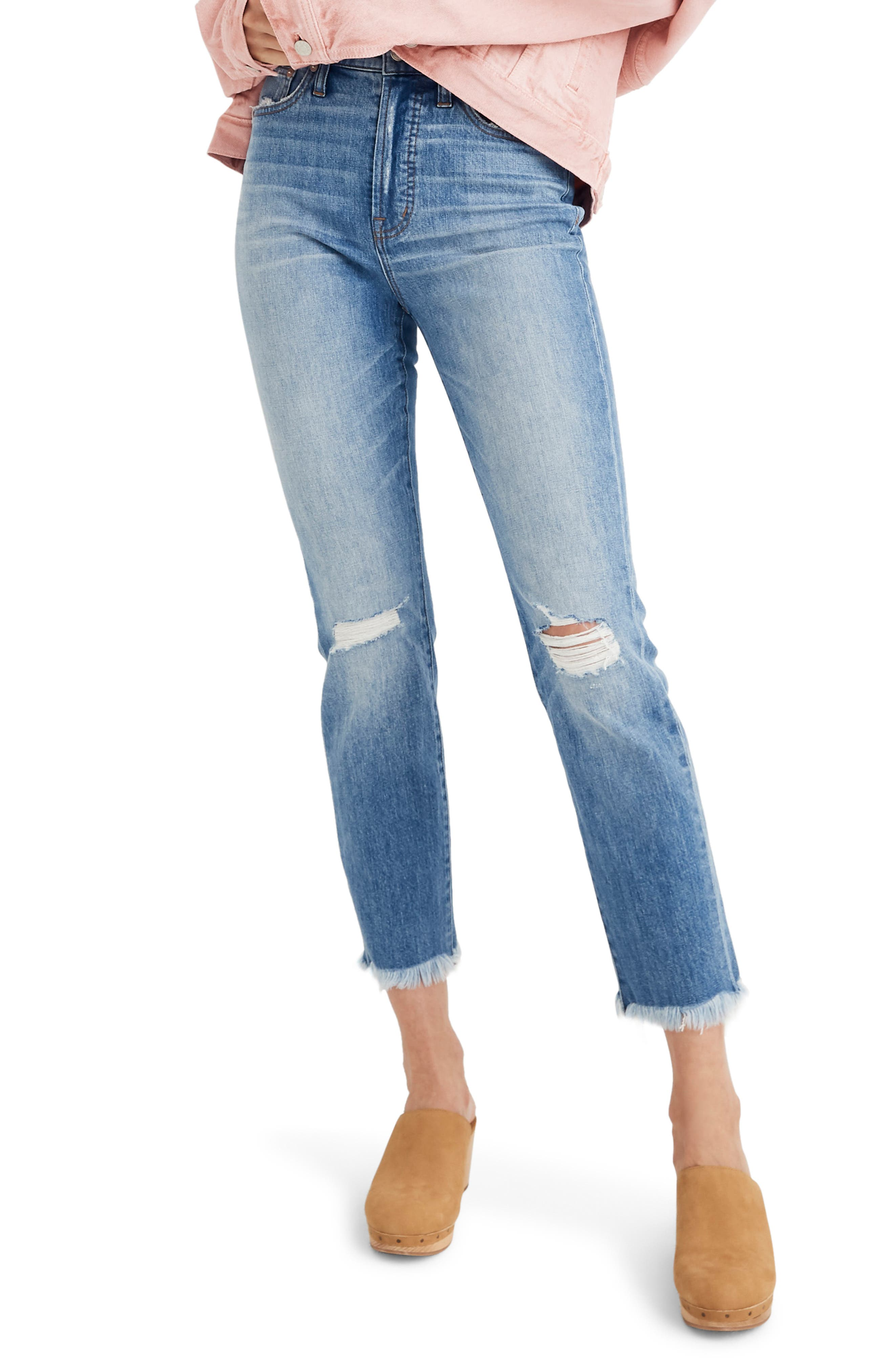 MADEWELL, The Perfect Vintage Crop High Waist Jeans, Main thumbnail 1, color, PARNELL WASH