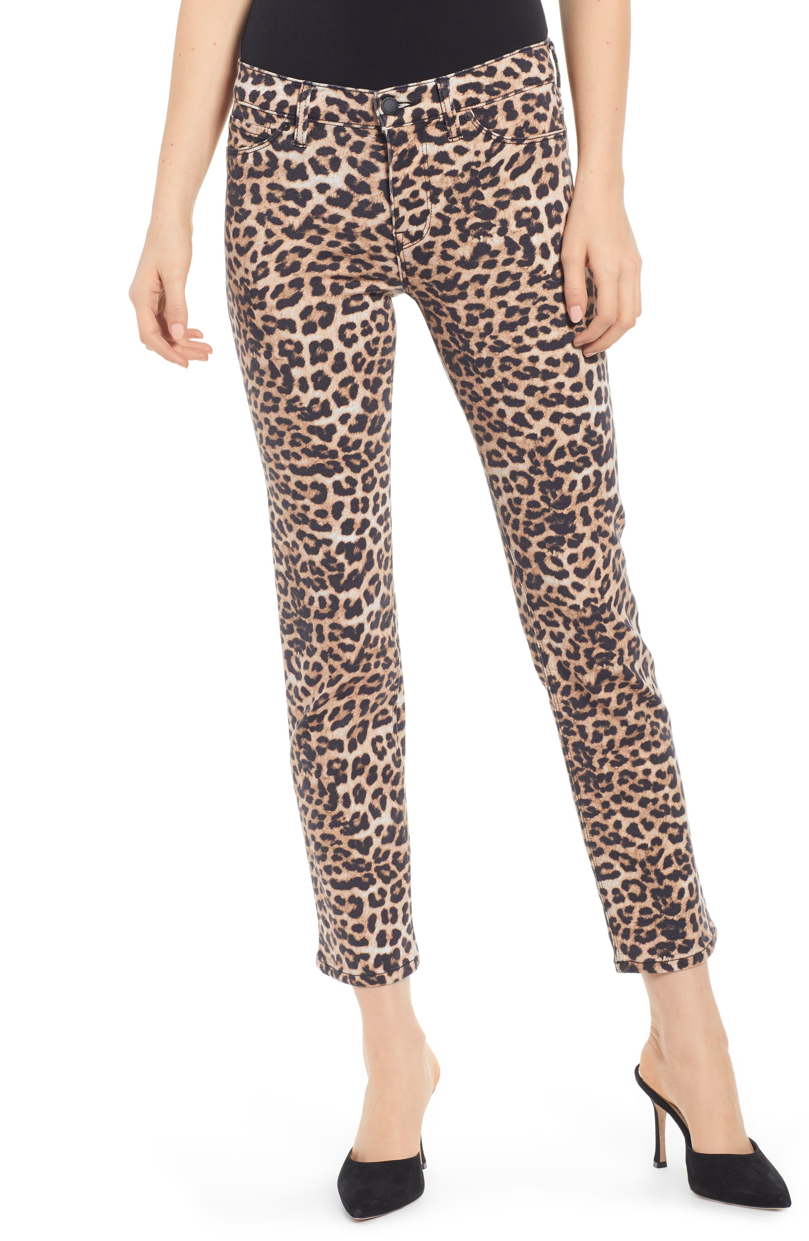 HUDSON JEANS, Hudson Ankle Straight Leg Jeans, Main thumbnail 1, color, CLASSIC LEOPARD