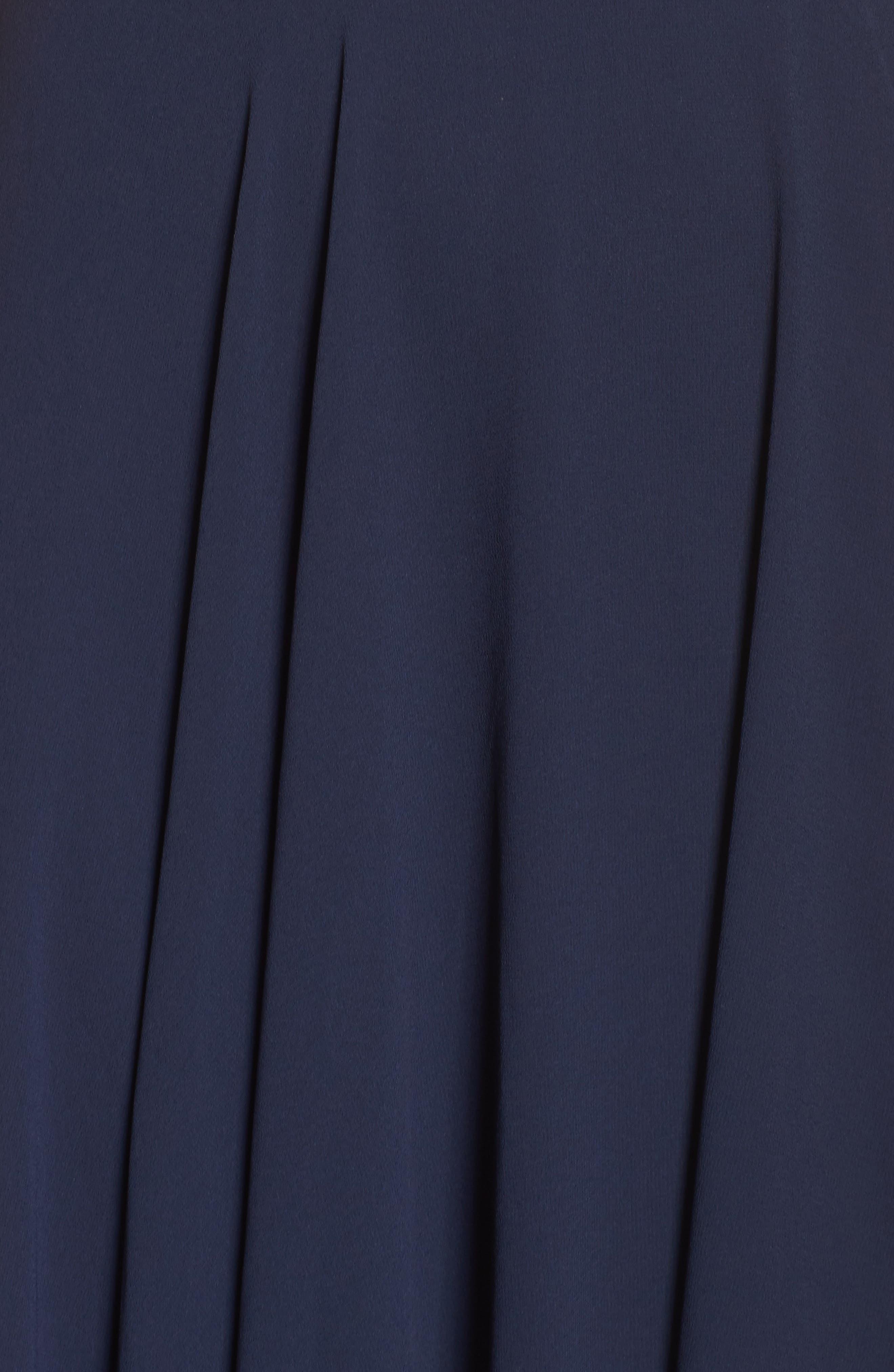 LULUS, V-Neck Chiffon Gown, Alternate thumbnail 5, color, 410