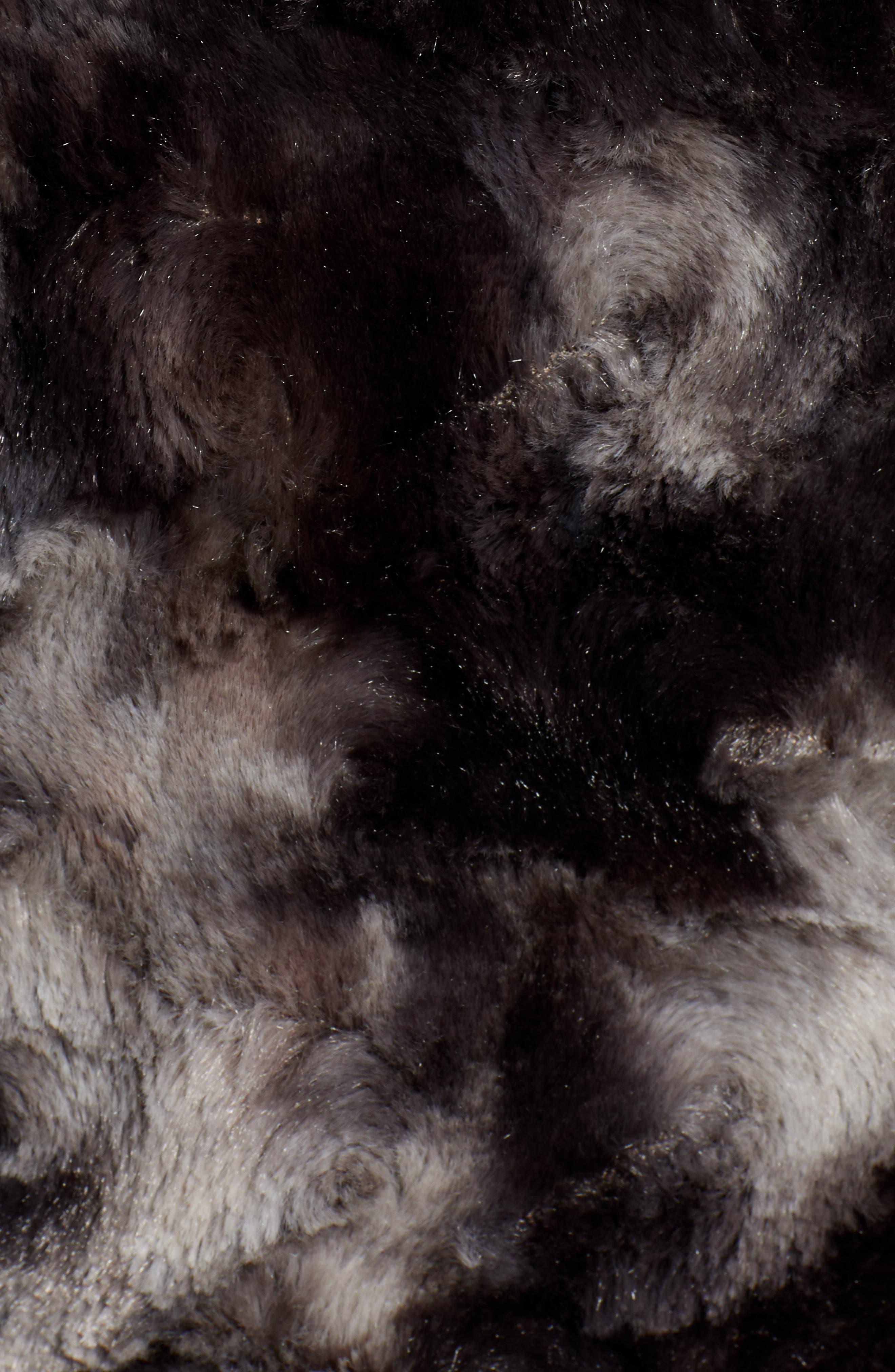 VIA SPIGA, Reversible Faux Marled Fur Coat, Alternate thumbnail 8, color, MARLED