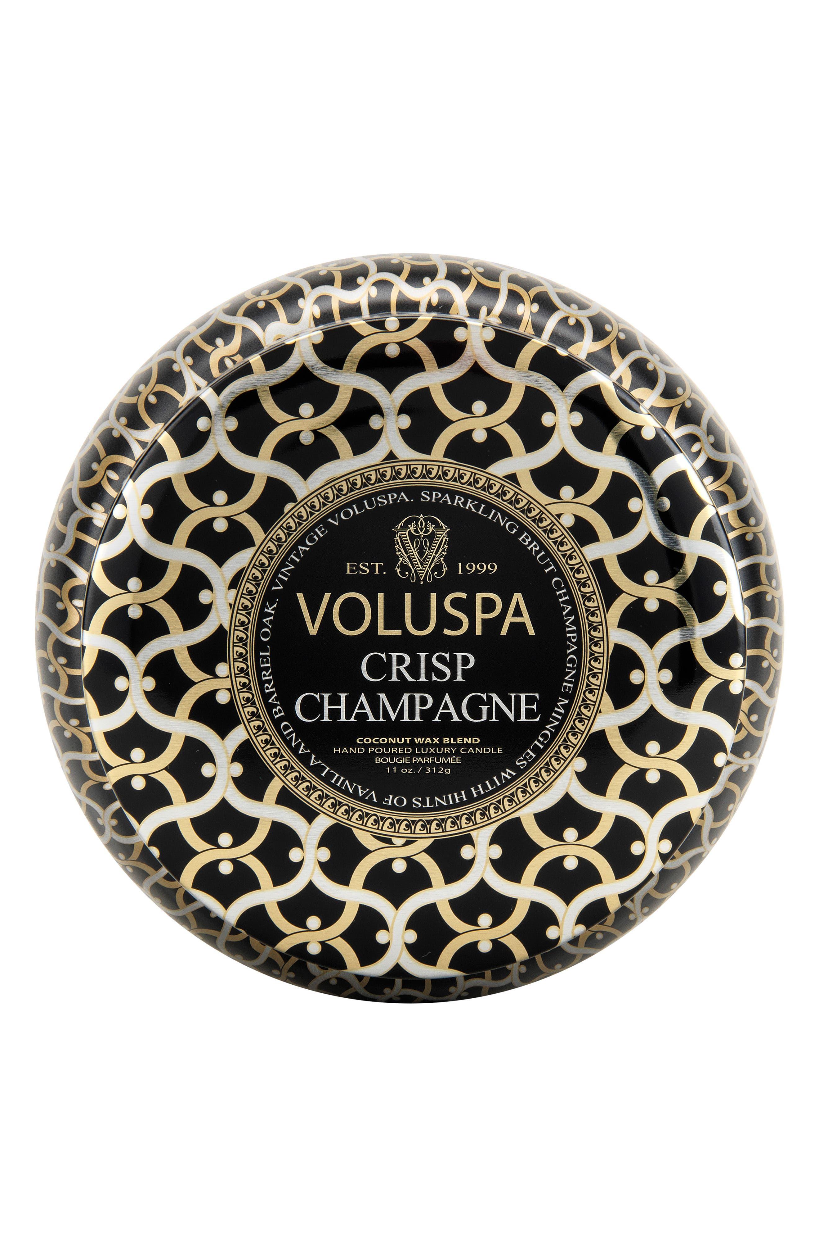 VOLUSPA, Maison Noir Crisp Champagne Maison Metallo Two-Wick Candle, Main thumbnail 1, color, NO COLOR