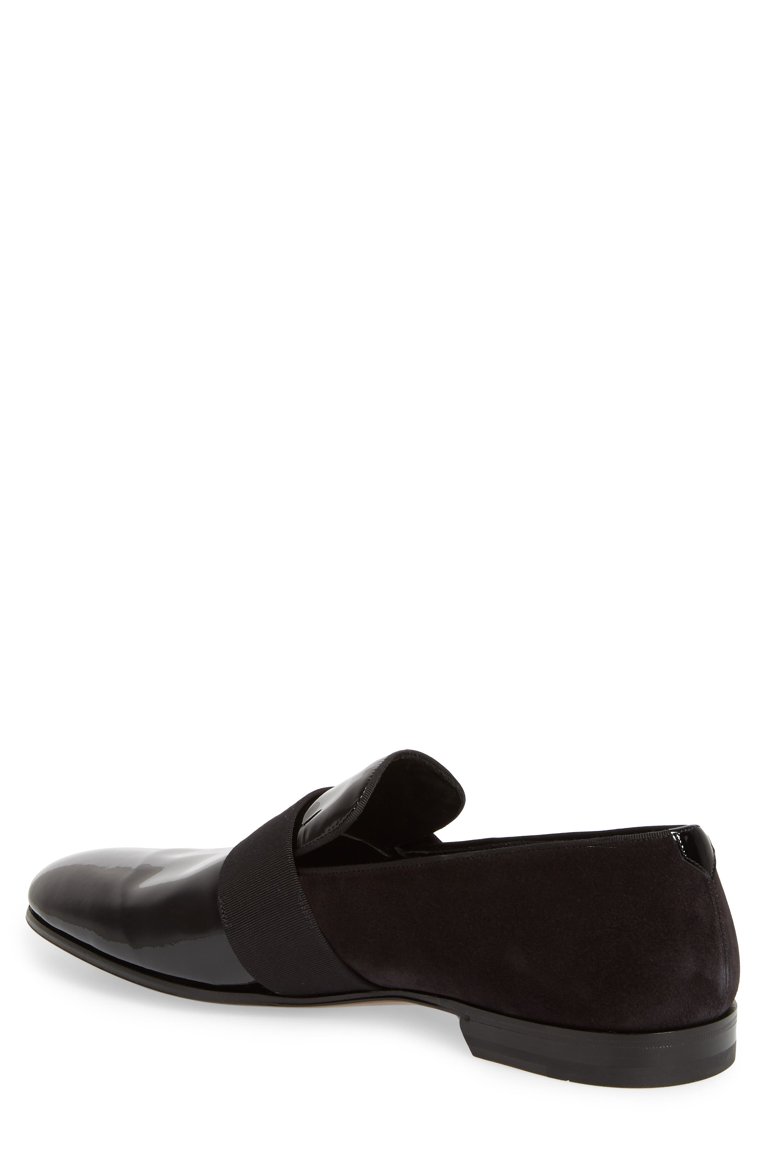 SALVATORE FERRAGAMO, Bryden Banded Loafer, Alternate thumbnail 2, color, NERO