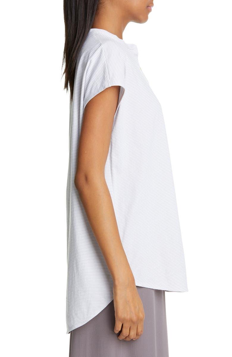 a3fb302f27f Eileen Fisher Organic Cotton Short-Sleeve Mandarin-Collar Tunic, Regular &  Petite In