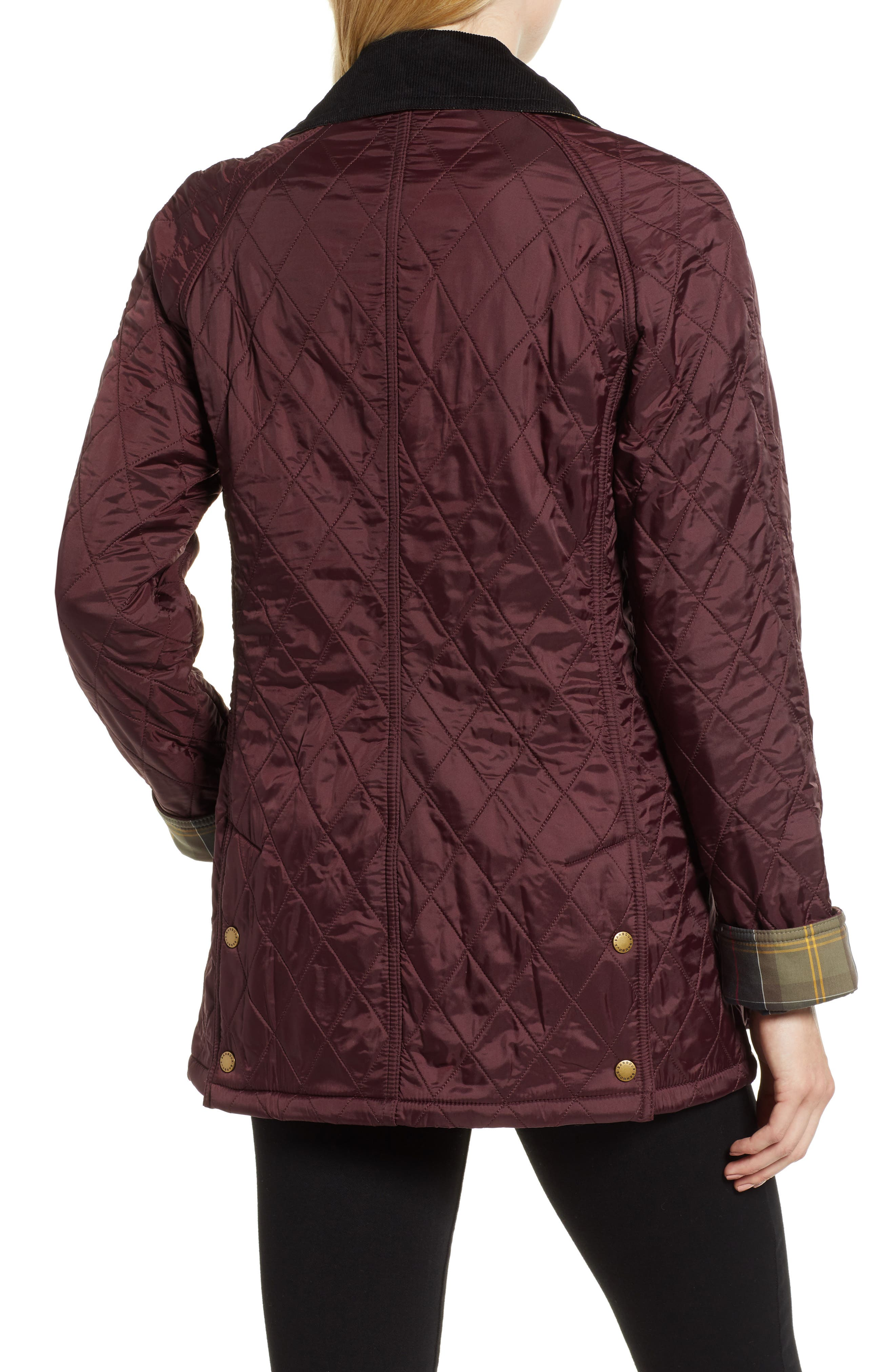 BARBOUR, 'Beadnell' Quilted Jacket, Alternate thumbnail 2, color, 930