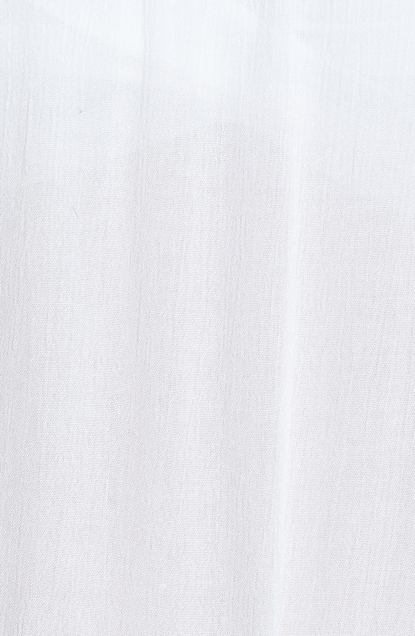 ECHO, Seaside Cover-Up Dress, Alternate thumbnail 6, color, WHITE