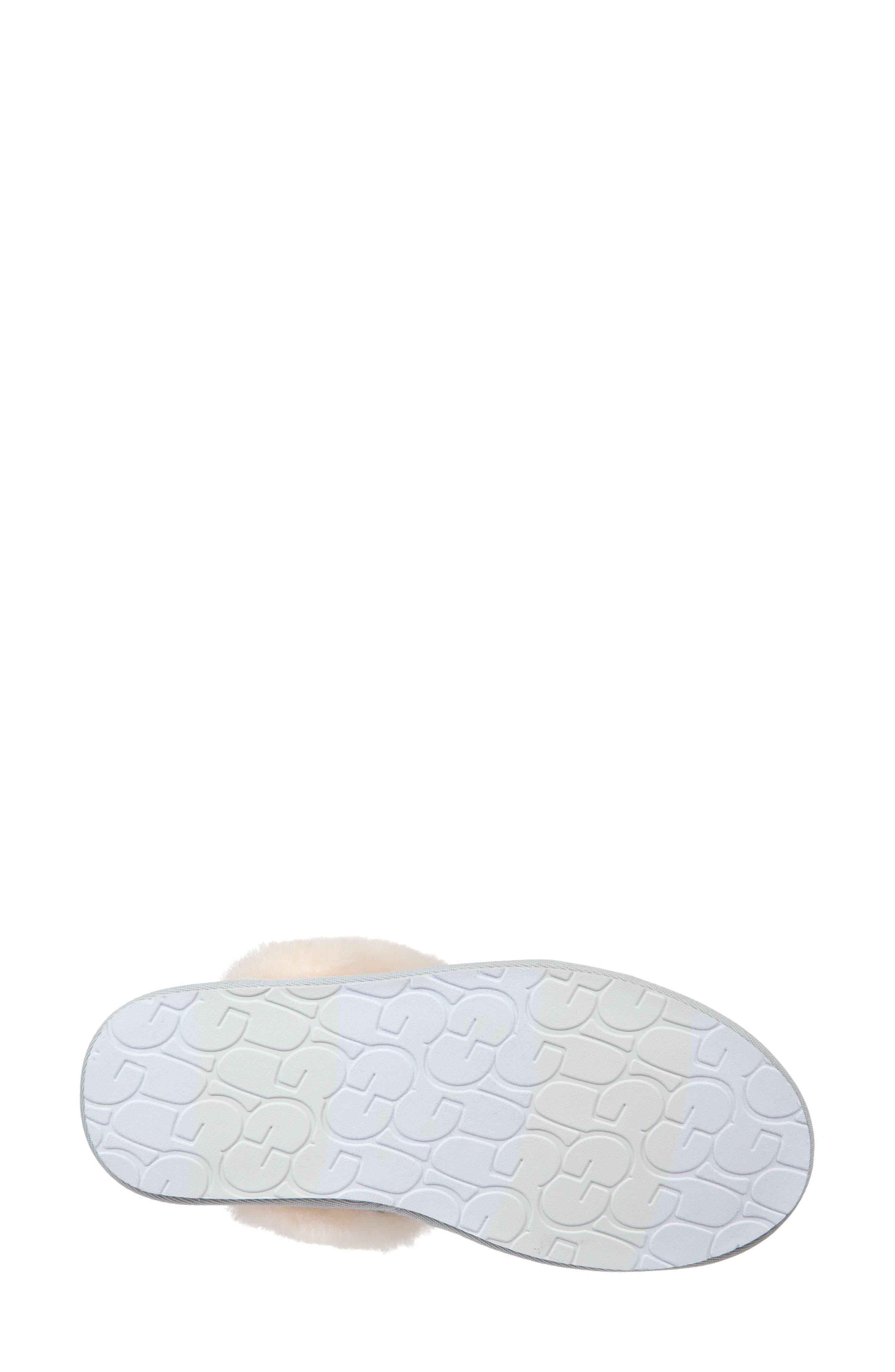 UGG<SUP>®</SUP>, Scuffette II Sparkle Genuine Shearling Slipper, Alternate thumbnail 5, color, SILVER