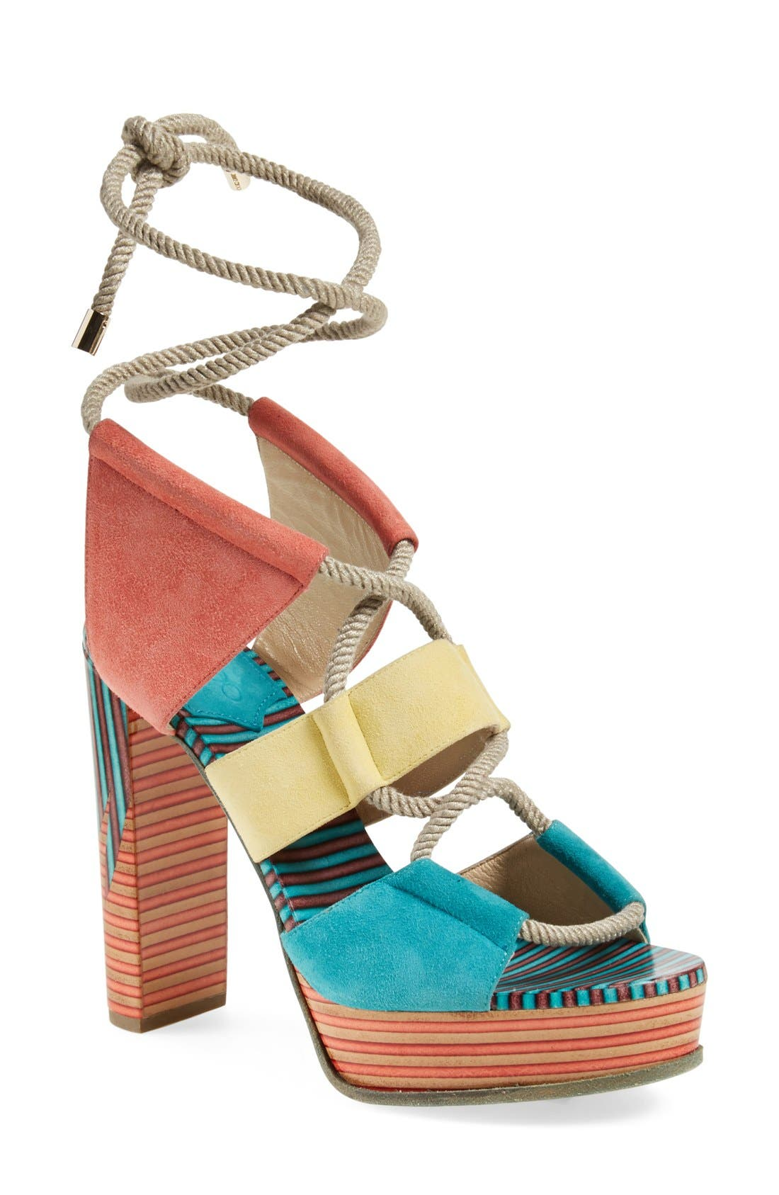 JIMMY CHOO, 'Halley' Platform Sandal, Main thumbnail 1, color, 400