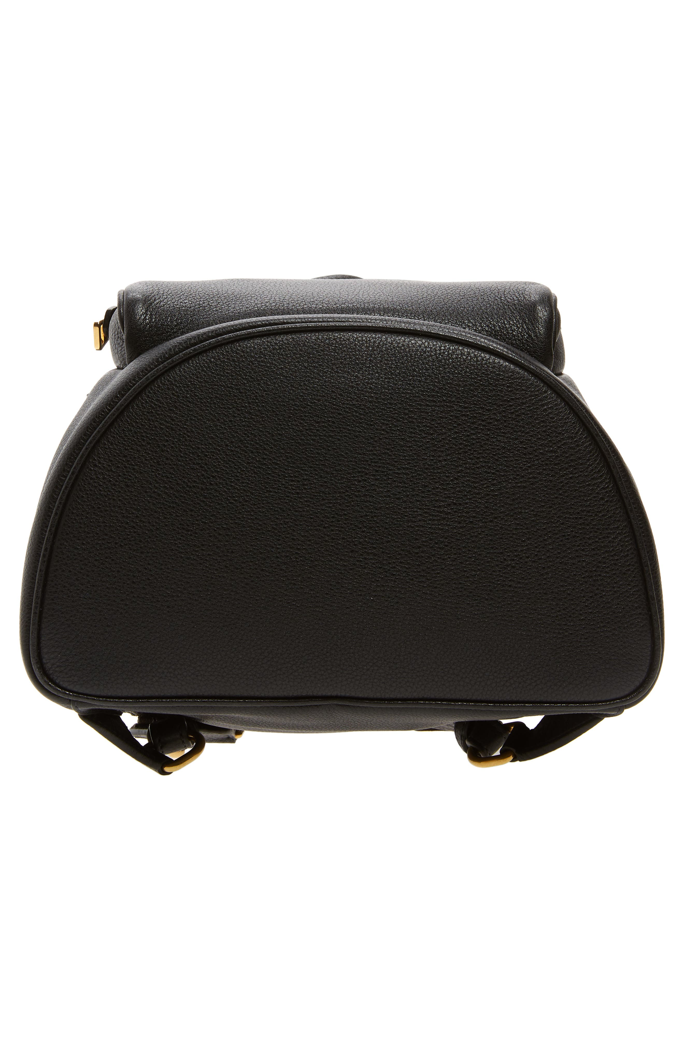 PRADA, Vitello Daino Pebbled Leather Backpack, Alternate thumbnail 7, color, 001