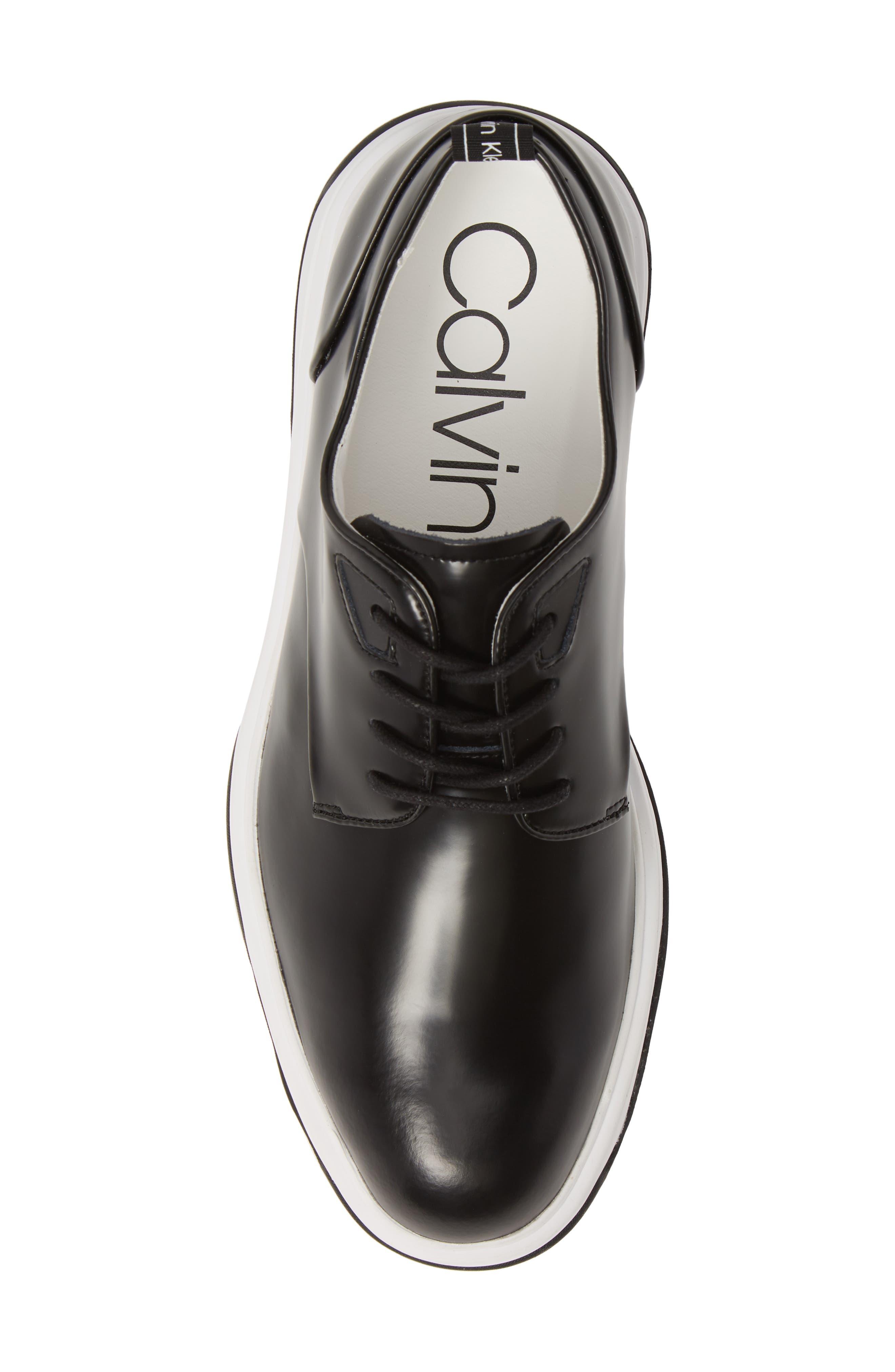 CALVIN KLEIN, Patsy Sneaker, Alternate thumbnail 5, color, BLACK