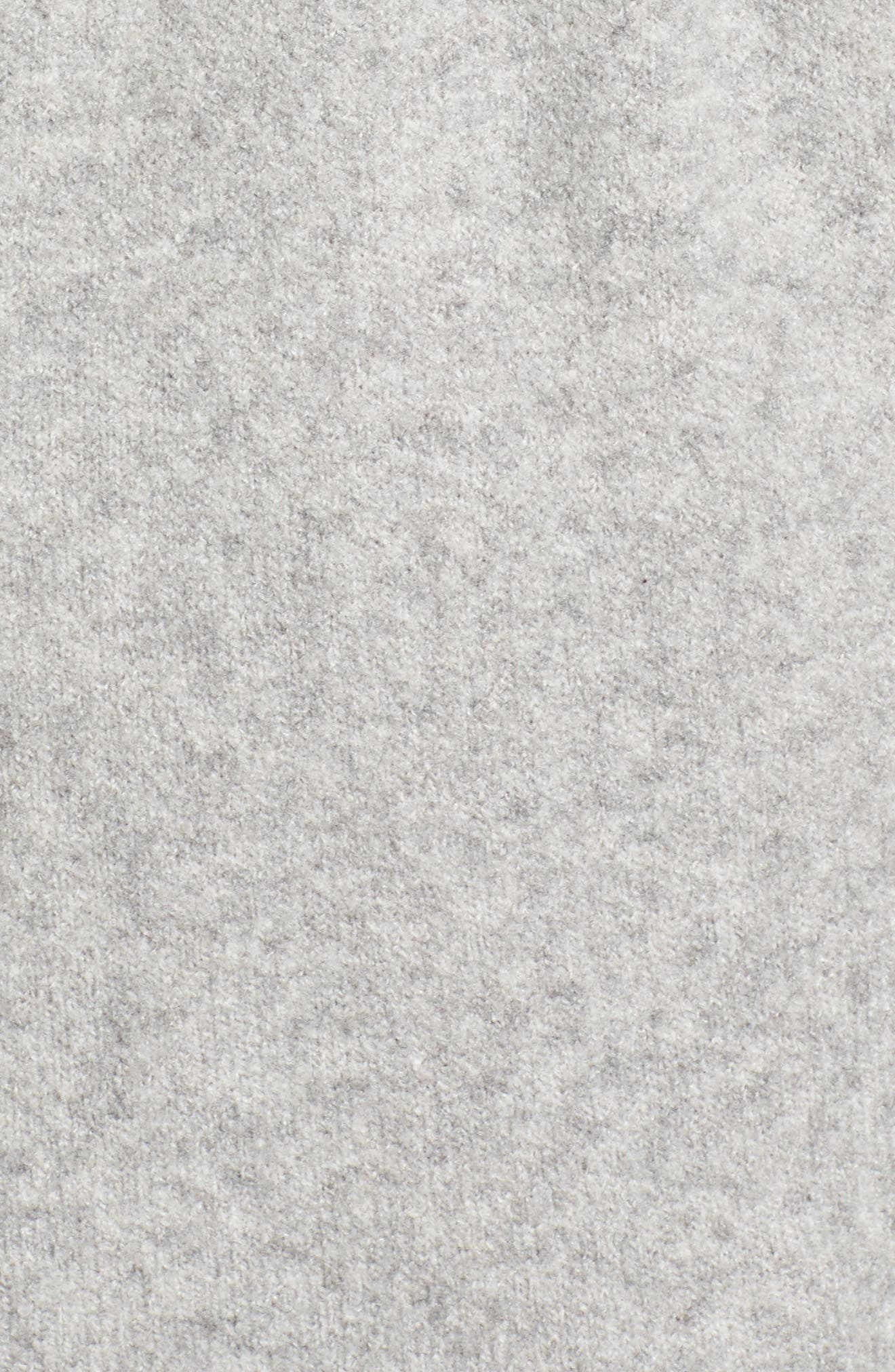 CASLON<SUP>®</SUP>, Hooded Cardigan, Alternate thumbnail 5, color, HEATHER GREY