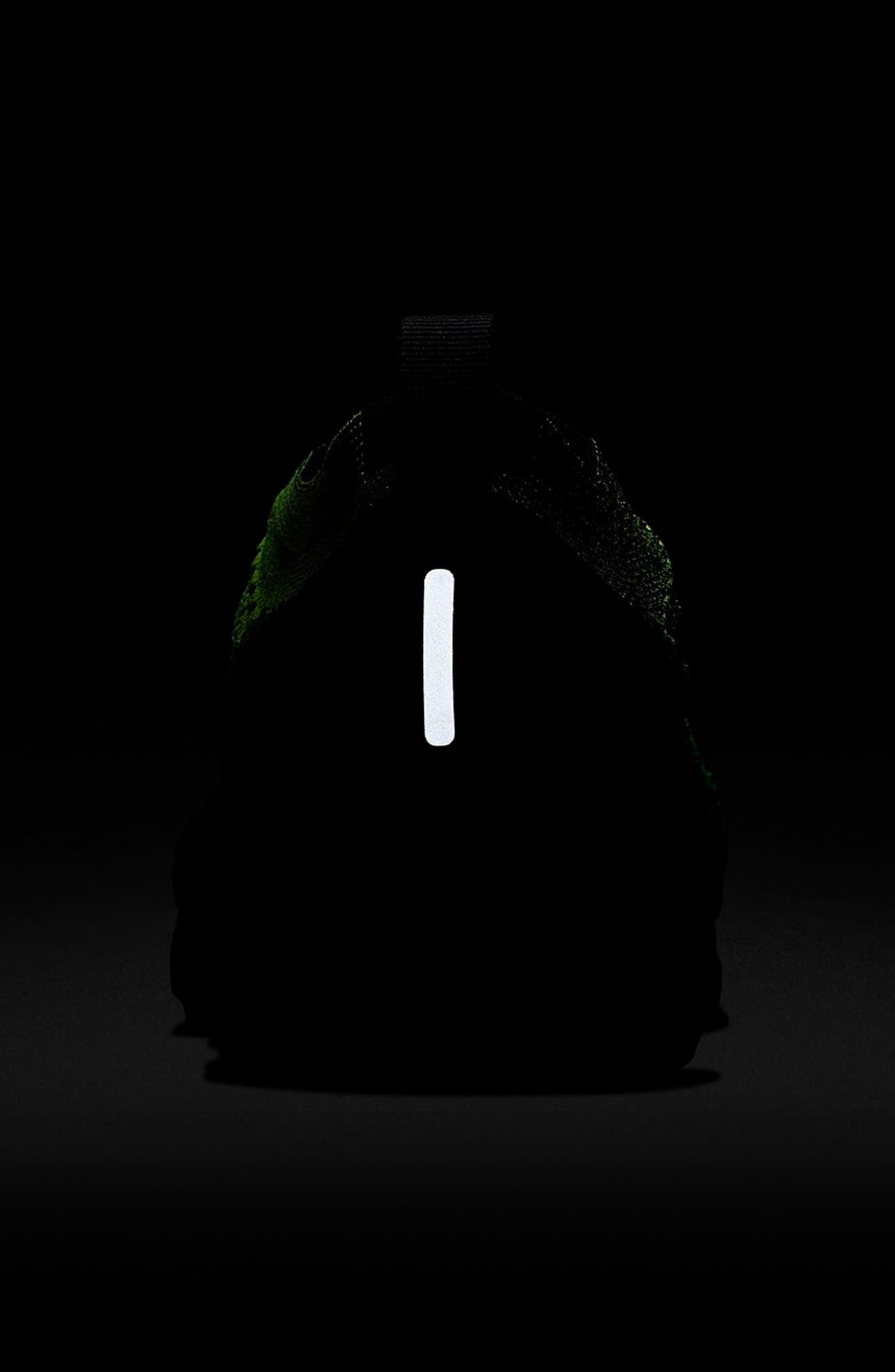 NIKE, Air VaporMax Flyknit 2 Running Shoe, Alternate thumbnail 6, color, VOLT/ BLACK/ VOLT