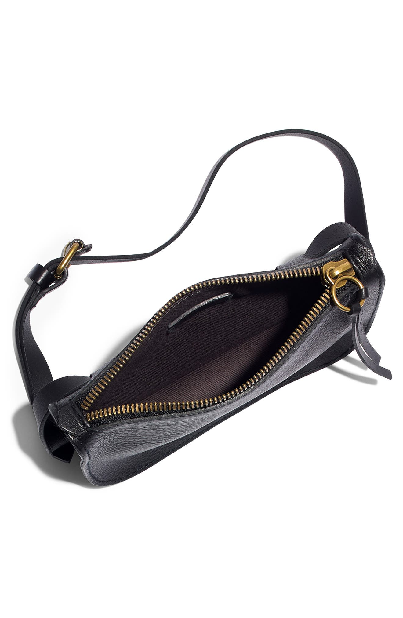 MADEWELL, The Simple Pouch Belt Bag, Alternate thumbnail 5, color, TRUE BLACK