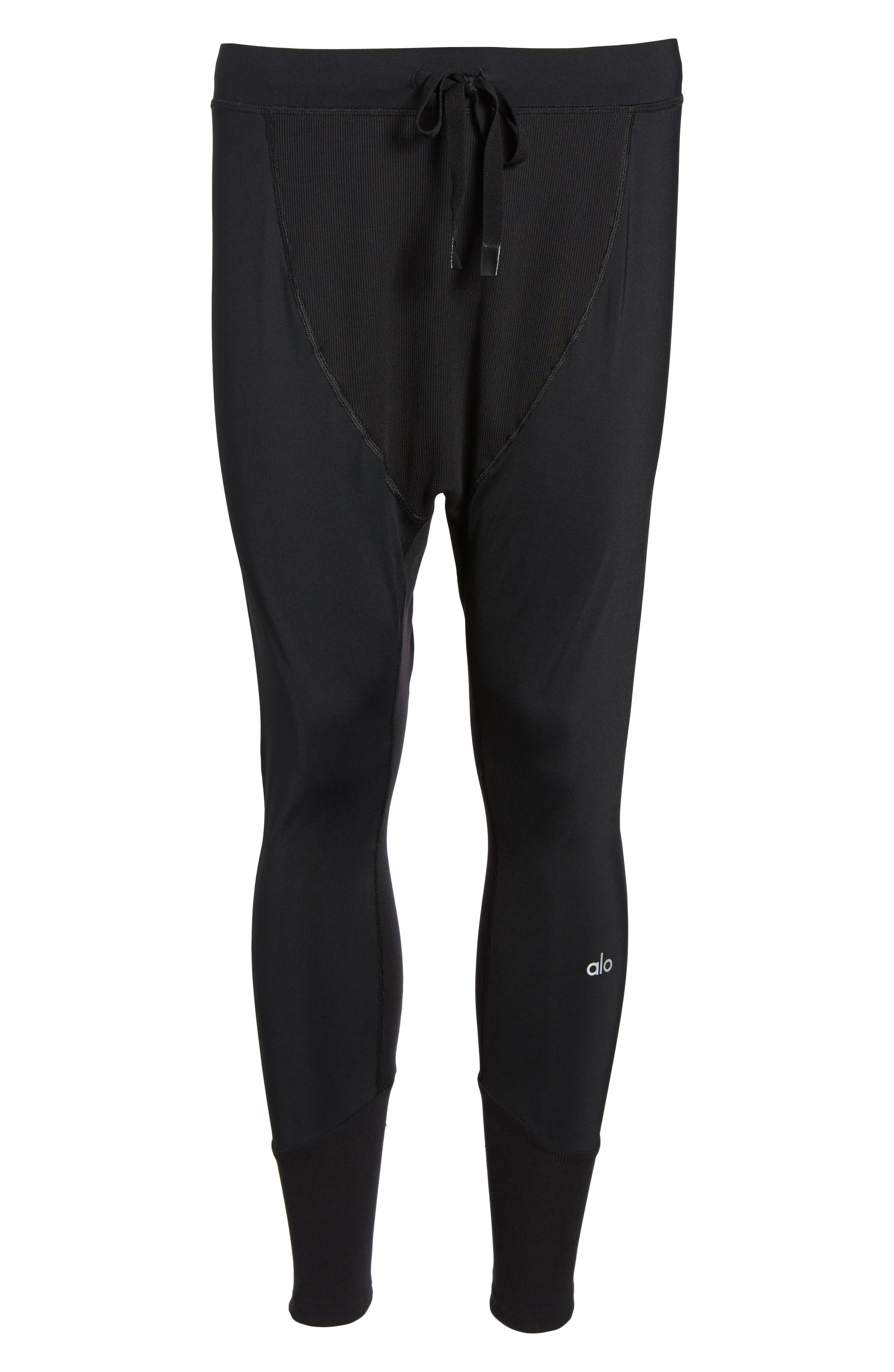 ALO, Rebel Jogger Pants, Alternate thumbnail 6, color, BLACK