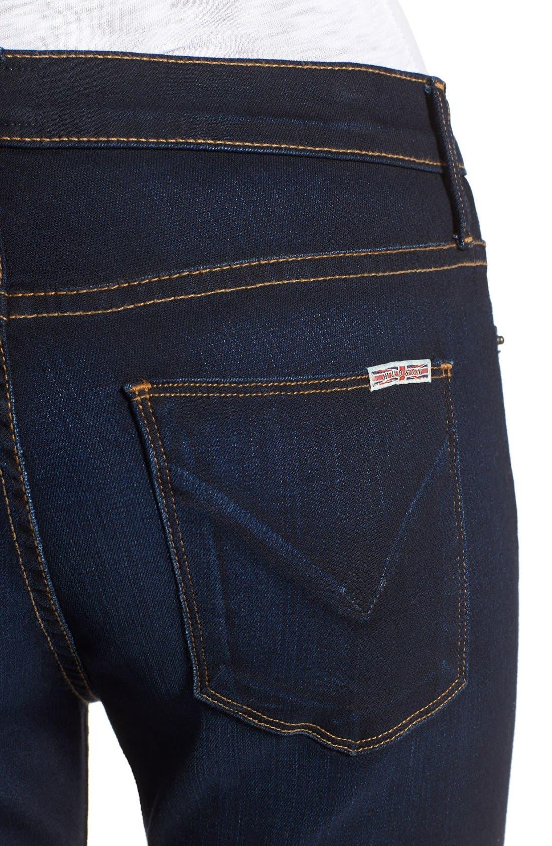 HUDSON JEANS, 'Love' Bootcut Jeans, Alternate thumbnail 4, color, REDUX