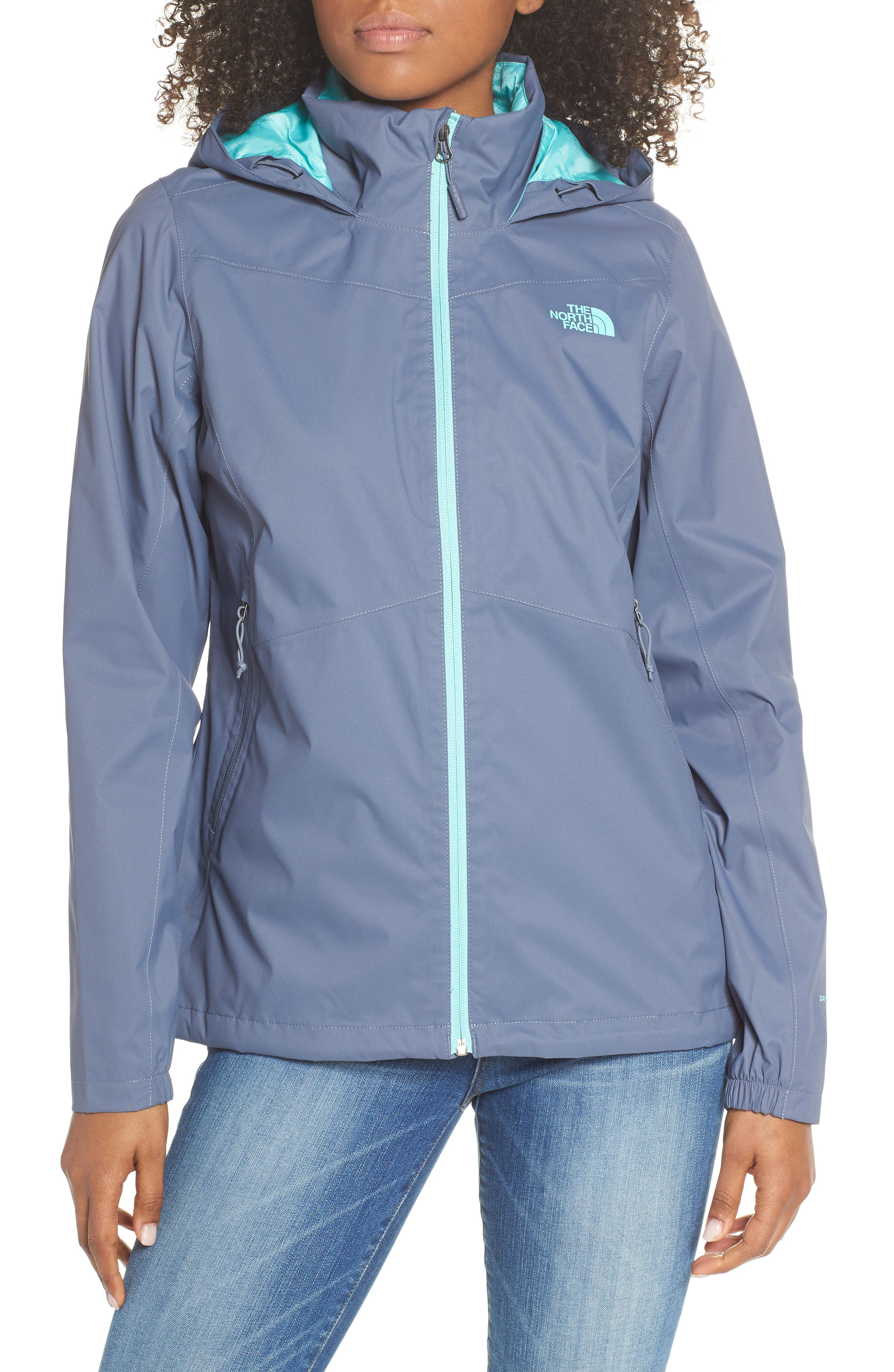 THE NORTH FACE, Resolve Plus Waterproof Jacket, Alternate thumbnail 5, color, GRISAILLE GREY/ GRISAILLE GREY