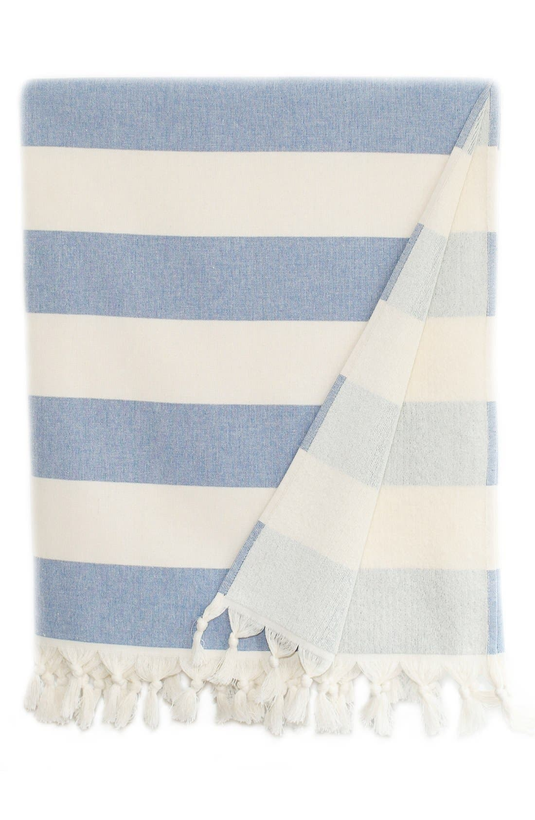 Linum Home Textiles Patara Turkish Pestemal Towel Size One Size  Blue