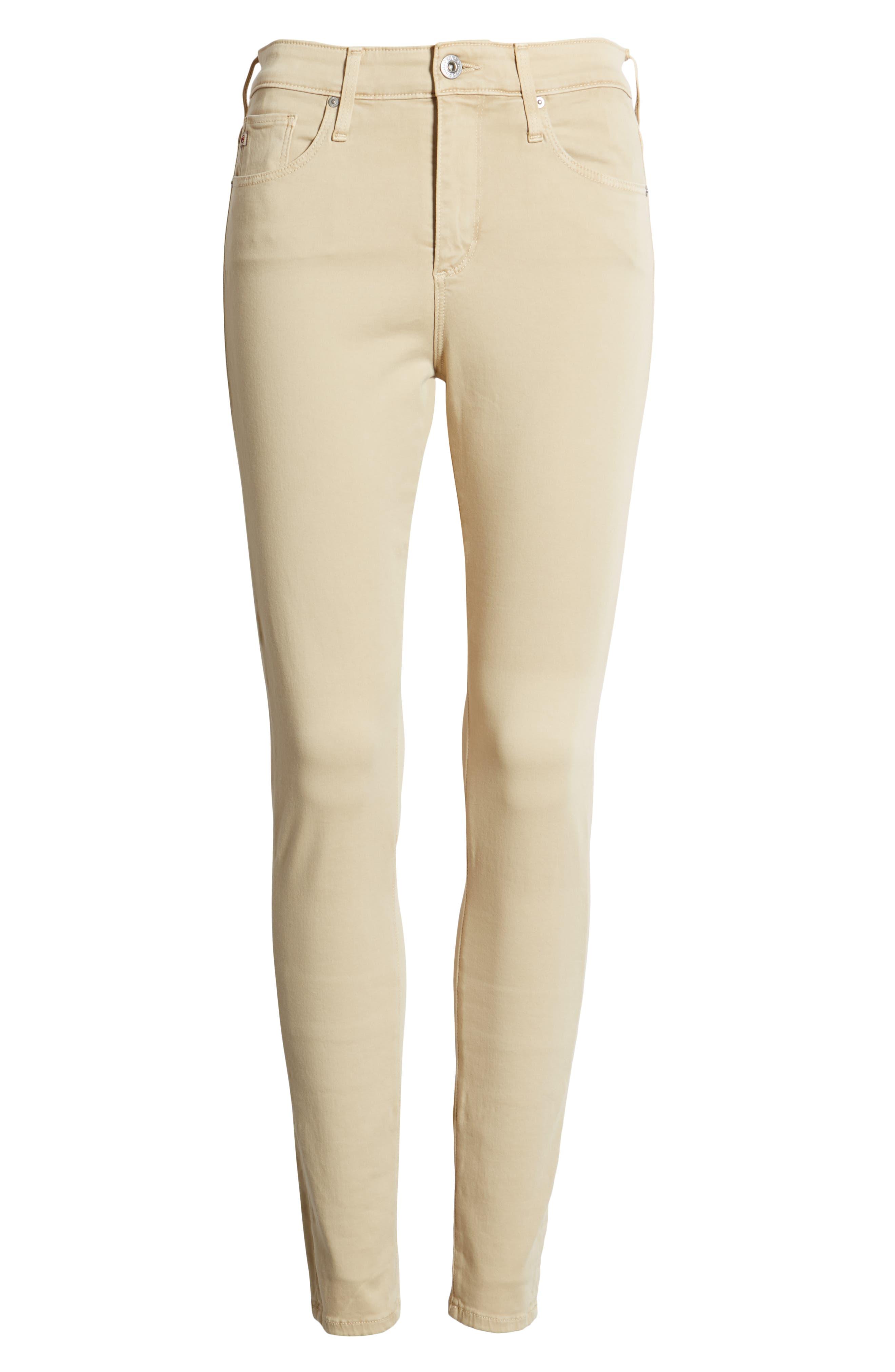 AG, Farrah High Waist Ankle Skinny Jeans, Alternate thumbnail 7, color, SULFUR FRESH SAND