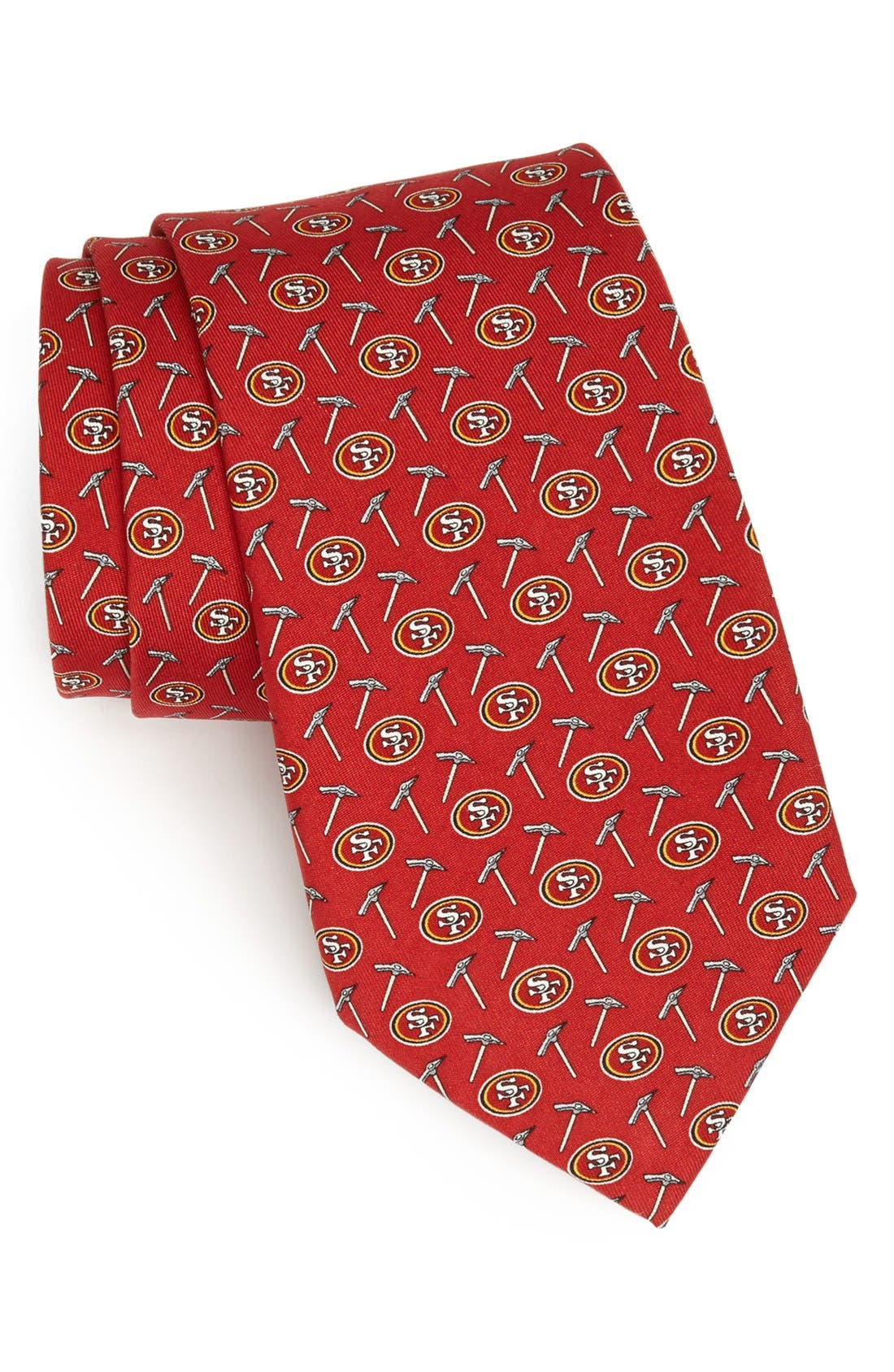 VINEYARD VINES, San Francisco 49ers Print Tie, Main thumbnail 1, color, RED