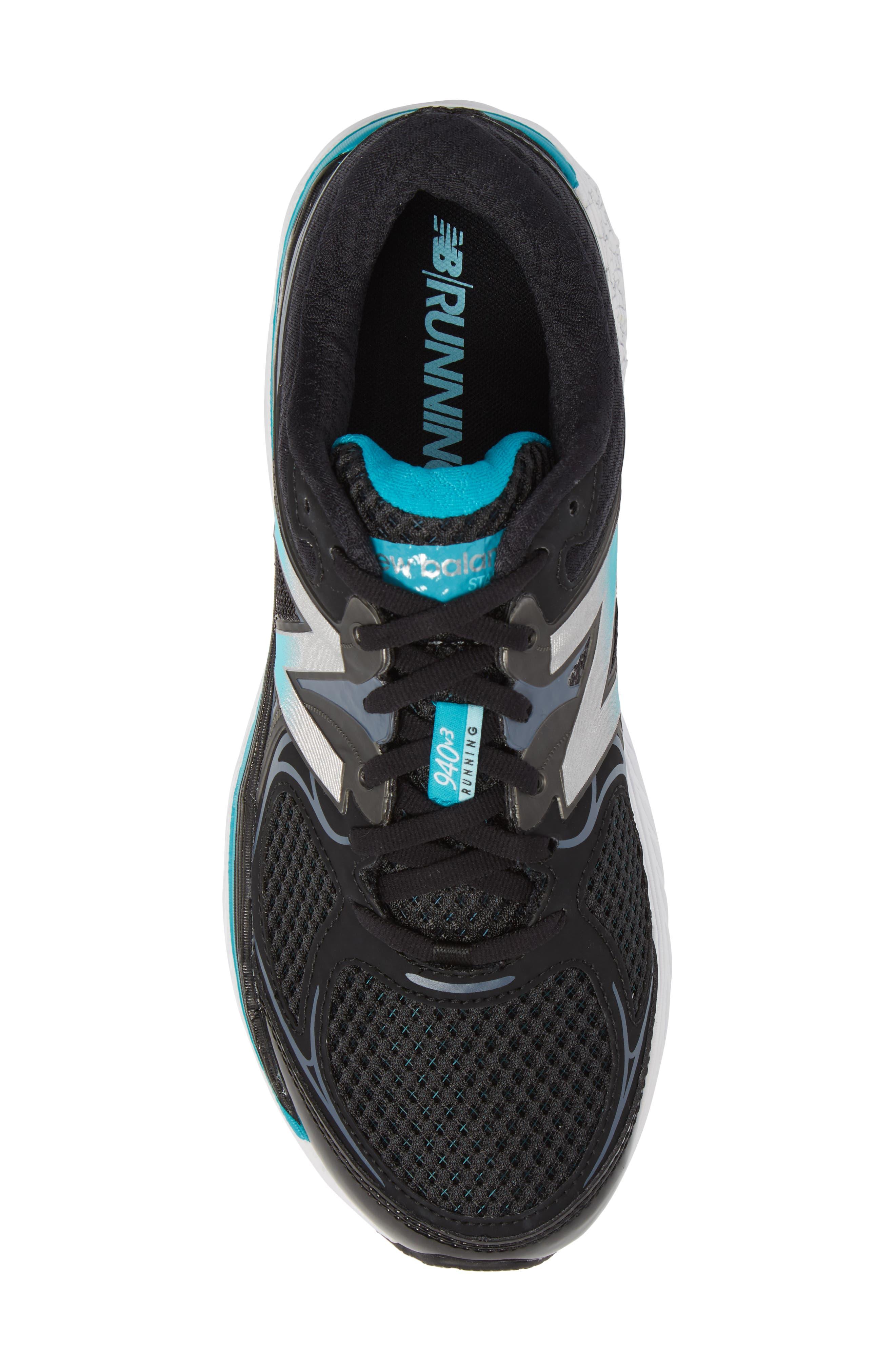 NEW BALANCE, 940v3 Running Shoe, Alternate thumbnail 5, color, BLACK/ BLUE