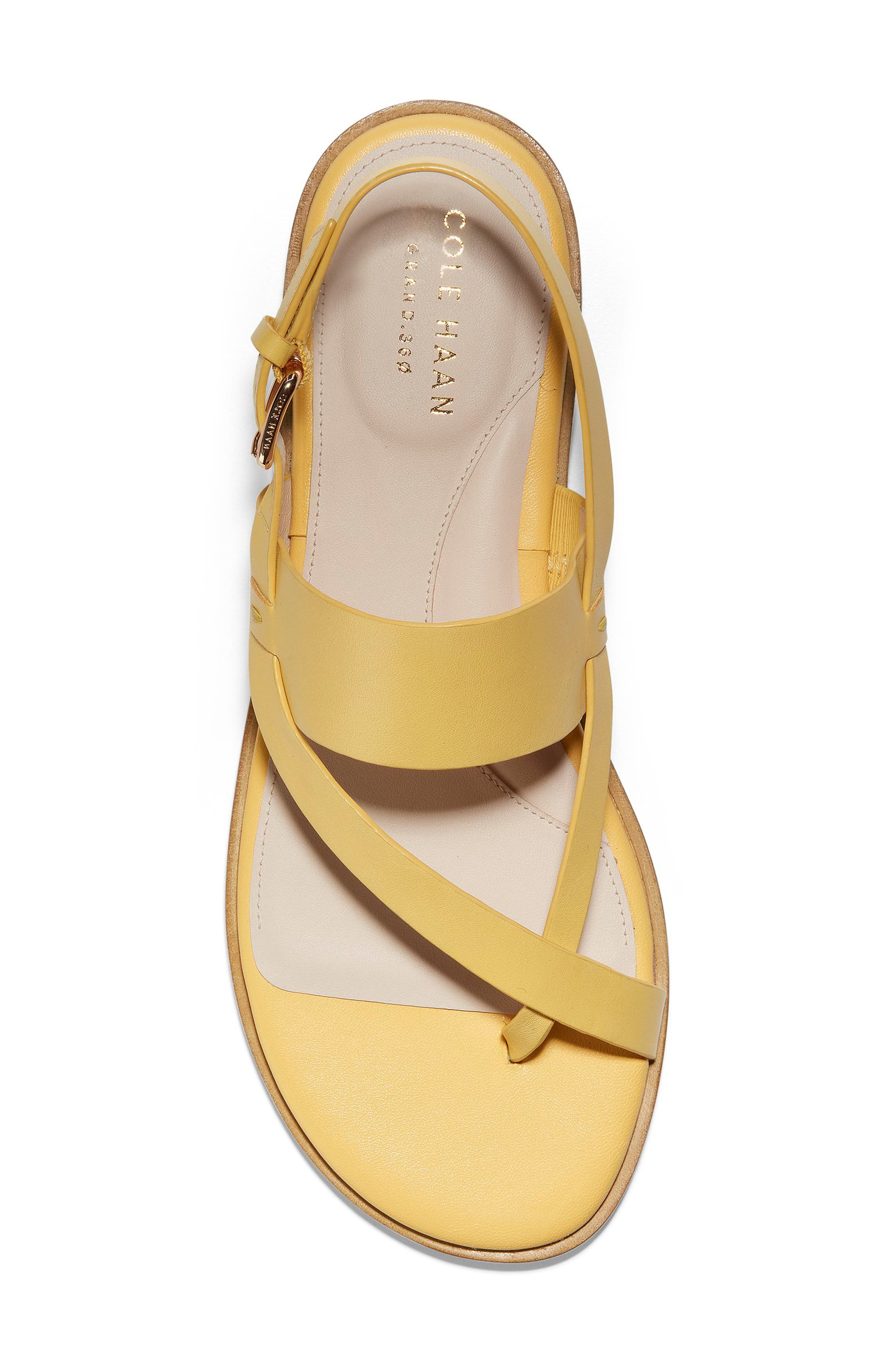 COLE HAAN, Anica Sandal, Alternate thumbnail 5, color, SUNSET GOLD LEATHER