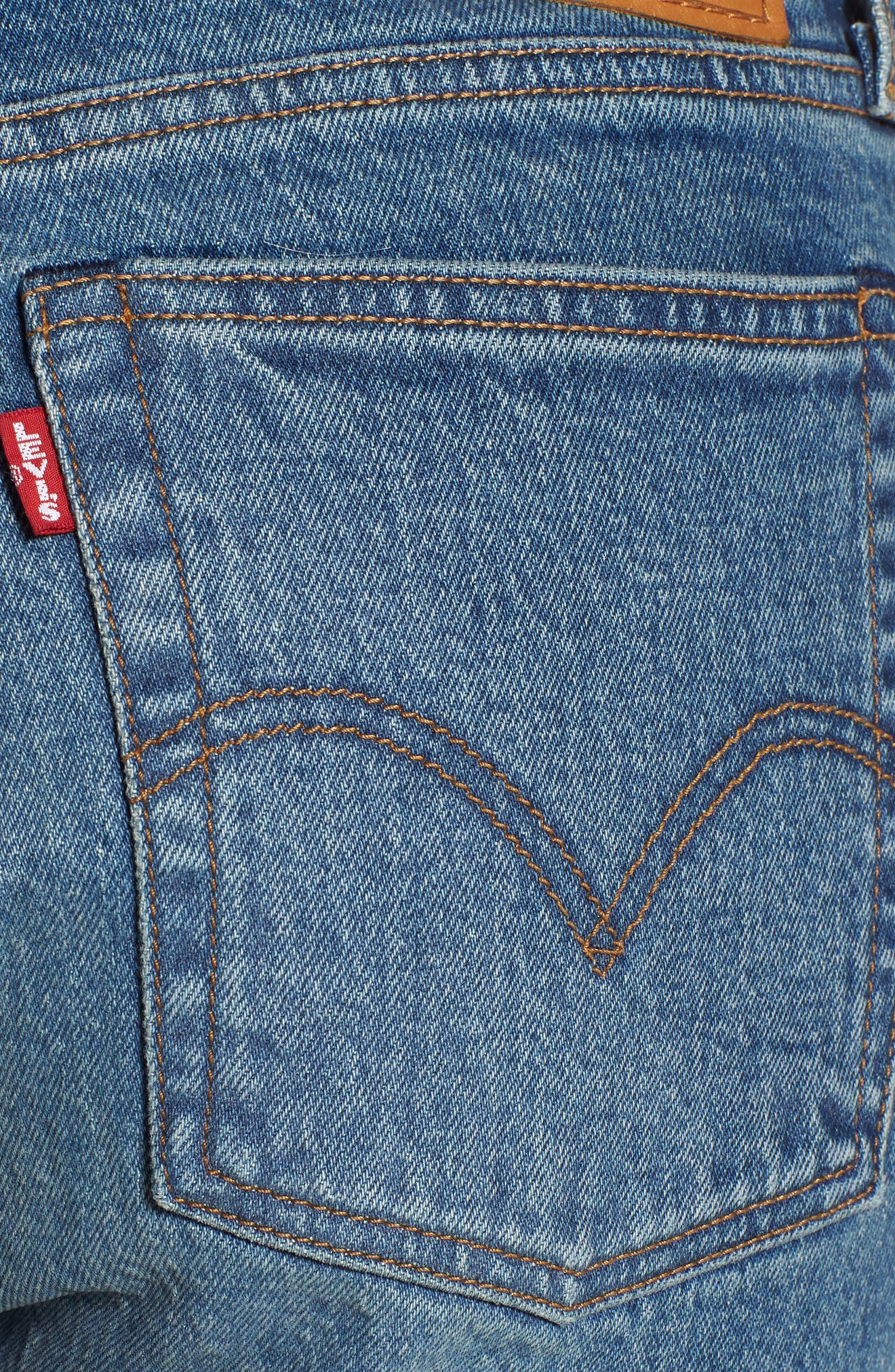 LEVI'S<SUP>®</SUP>, Wedgie Icon Fit High Waist Ankle Jeans, Alternate thumbnail 5, color, THESE DREAMS