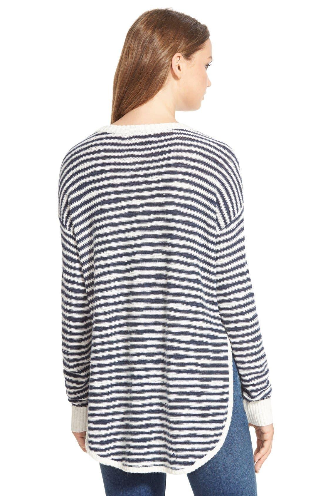 TREASURE & BOND, Treasure&Bond Asymmetrical Stripe Sweater, Alternate thumbnail 5, color, 400