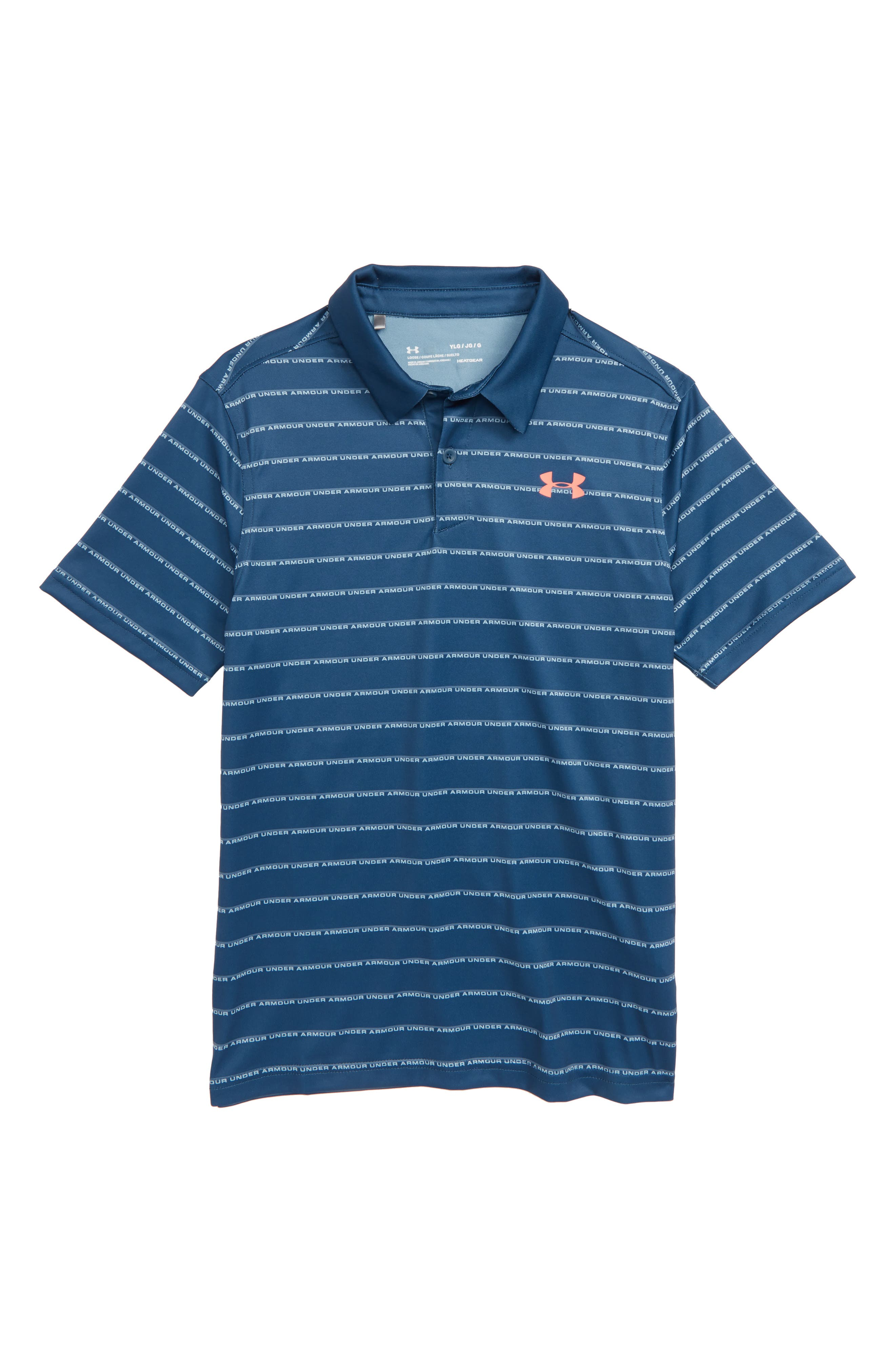 UNDER ARMOUR Tour Tips Stripe HeatGear<sup>®</sup> Polo, Main, color, 437
