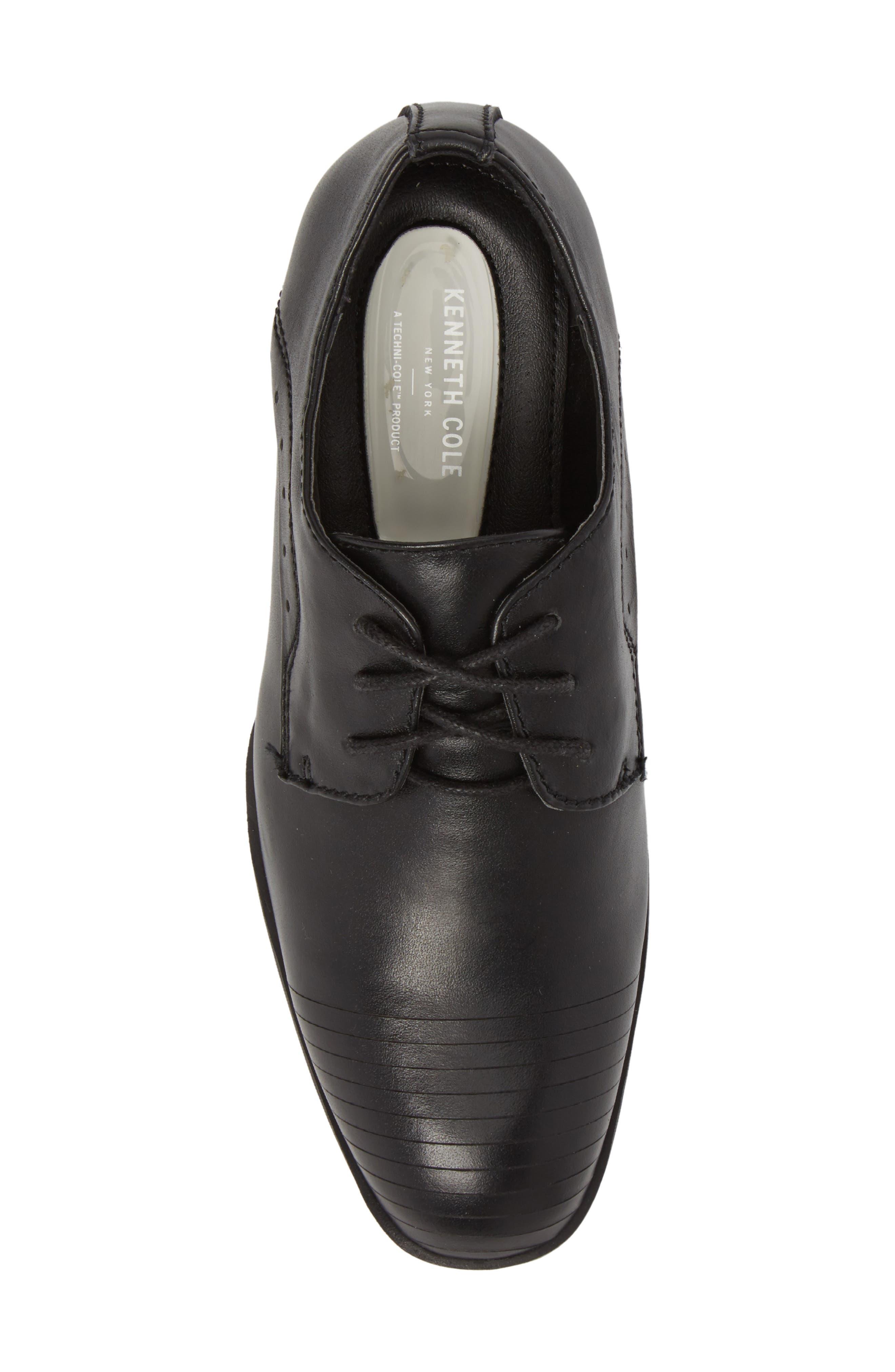 REACTION KENNETH COLE, Straight Line Derby, Alternate thumbnail 5, color, BLACK