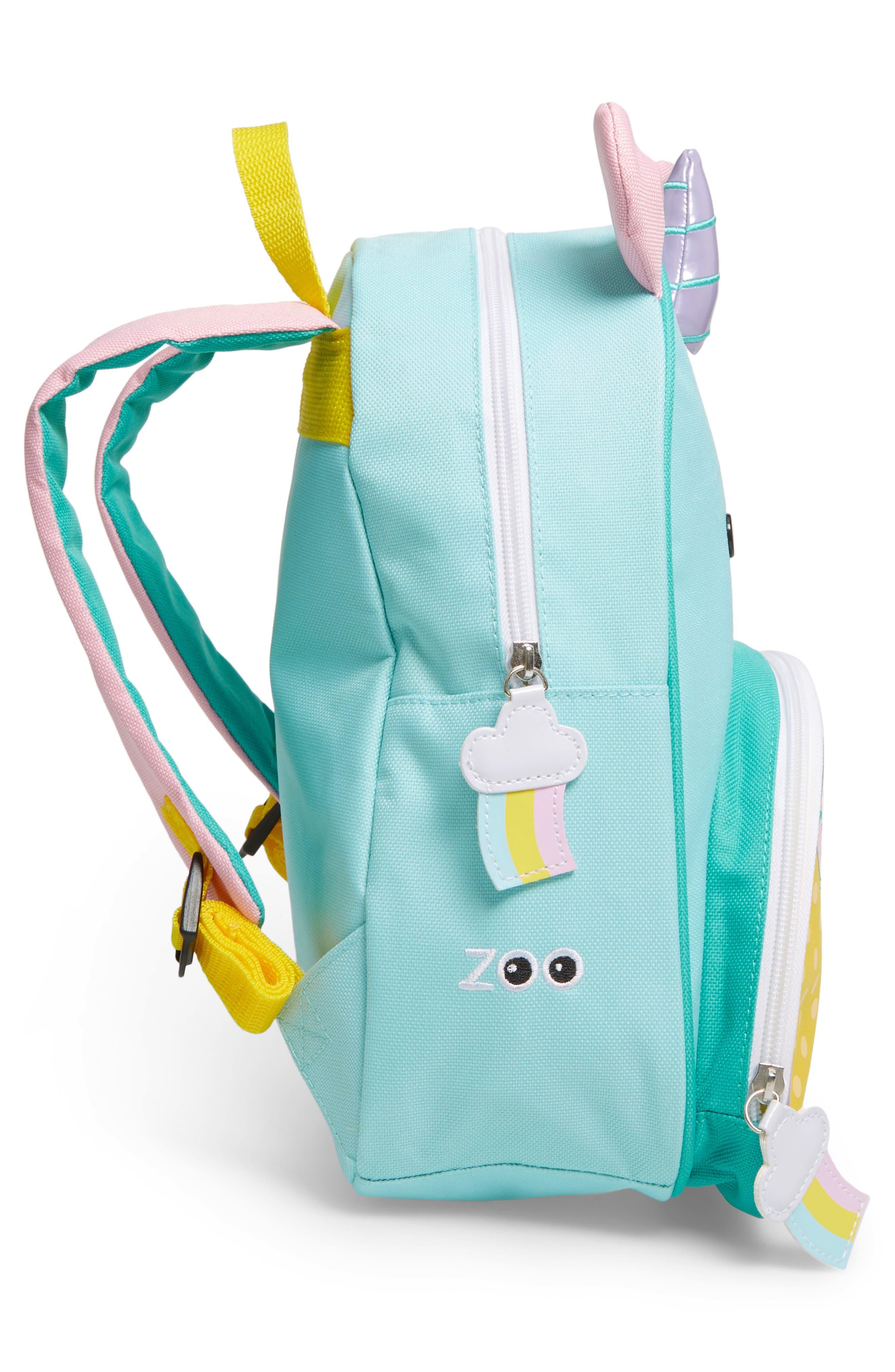 SKIP HOP, Zoo Pack Backpack, Alternate thumbnail 4, color, YELLOW